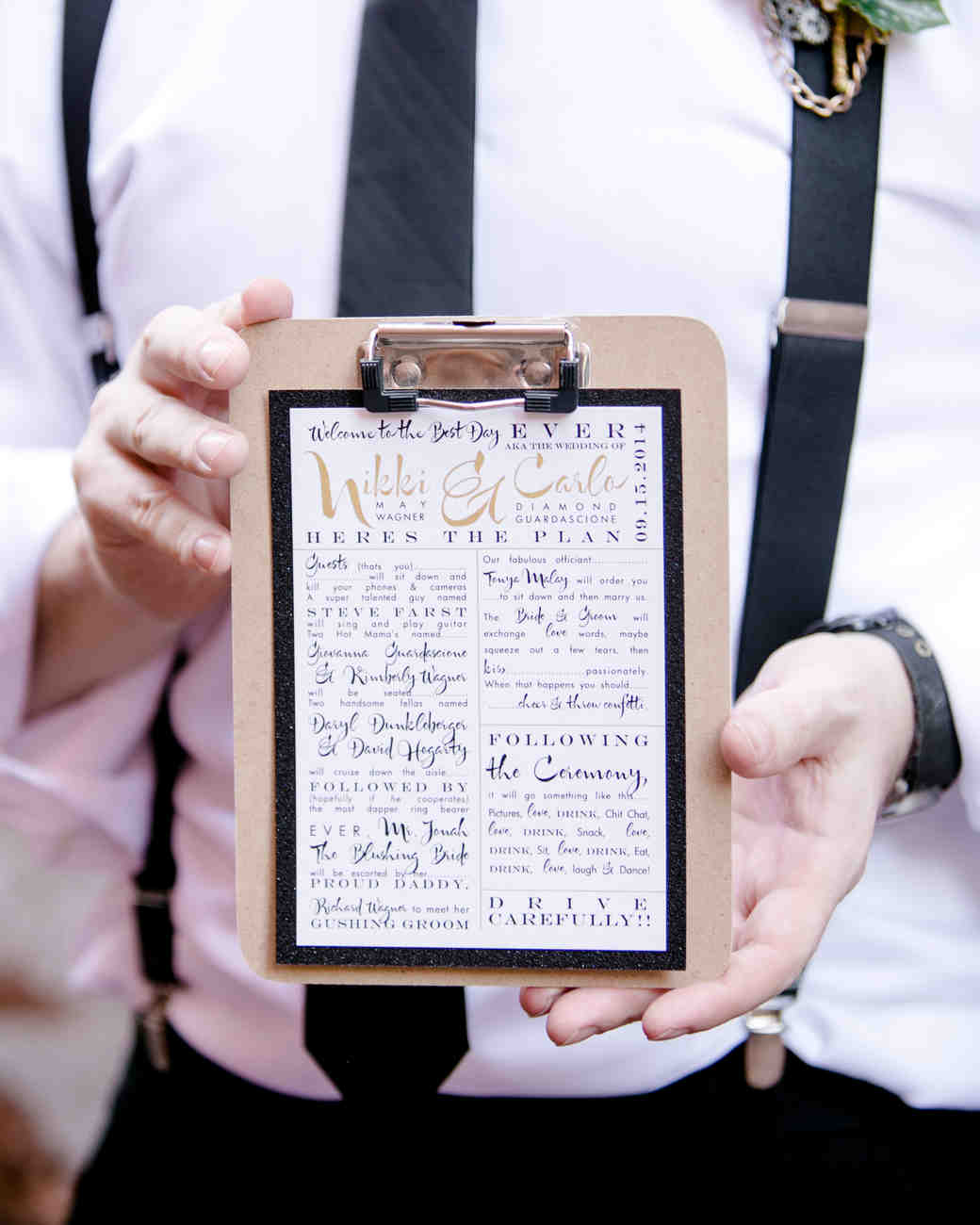 Unique Wedding Reception Program Ideas: Unique Wedding Ceremony Program Ideas