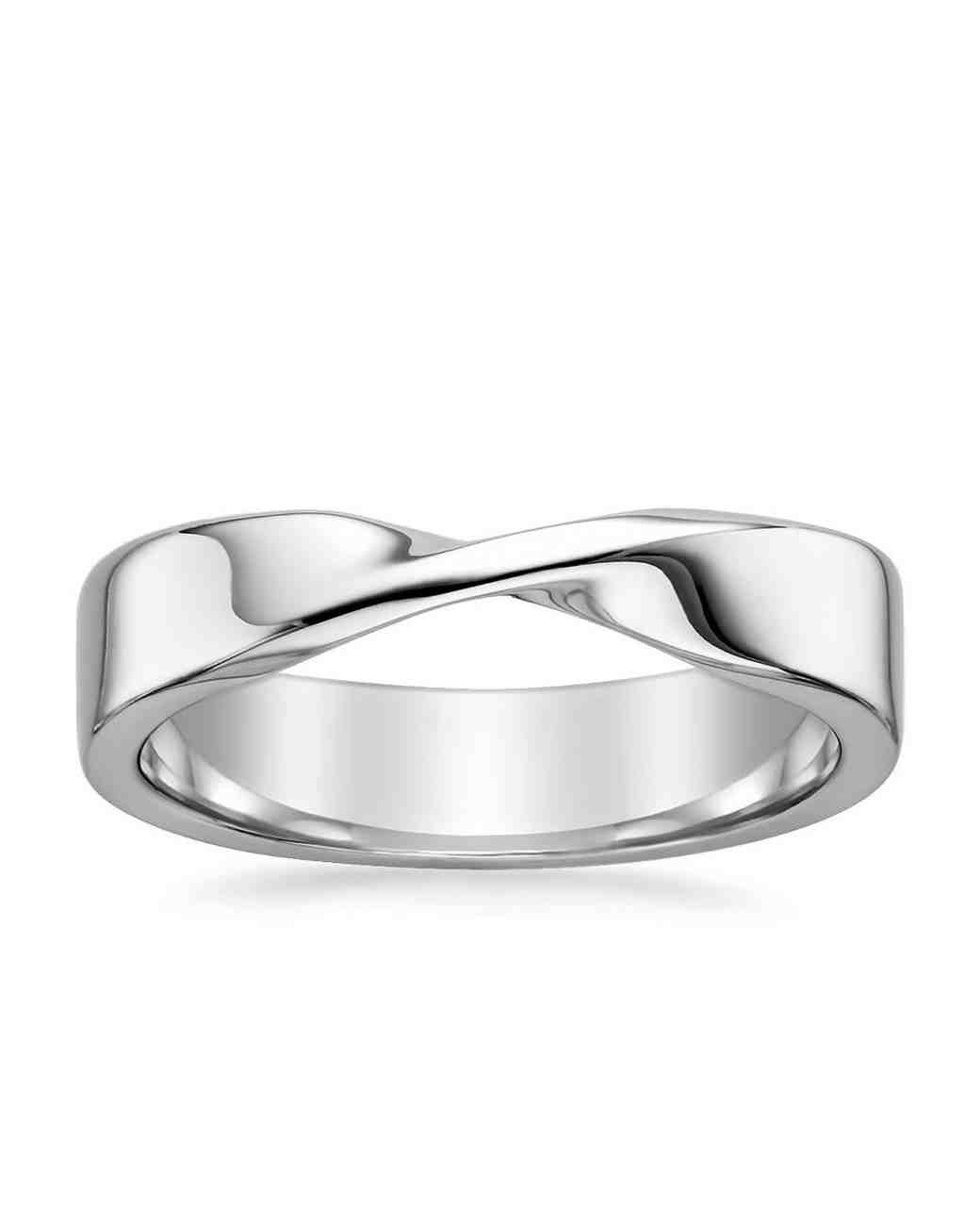 unique silver wedding band
