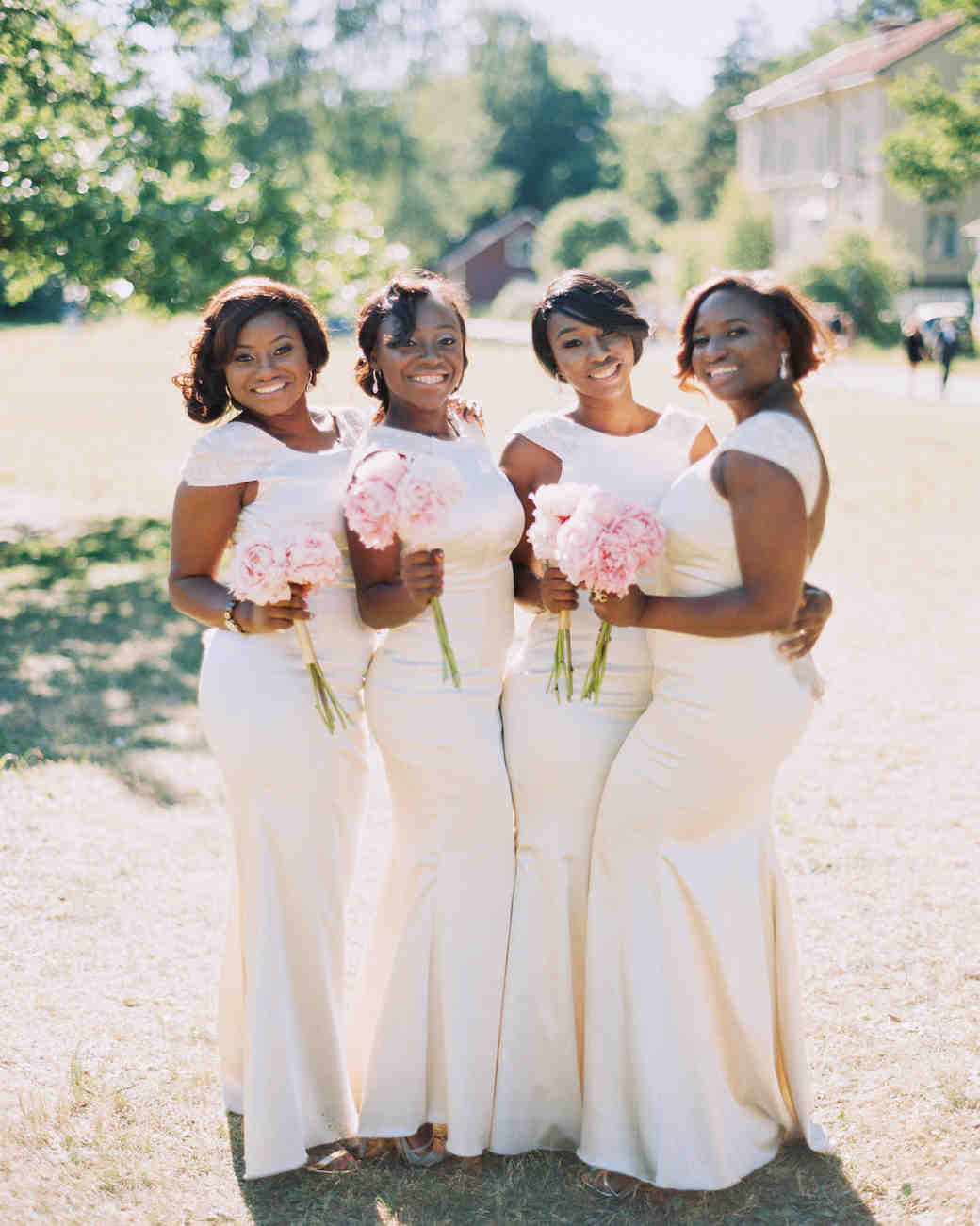 white bridesmaid dresses 2 brides photography
