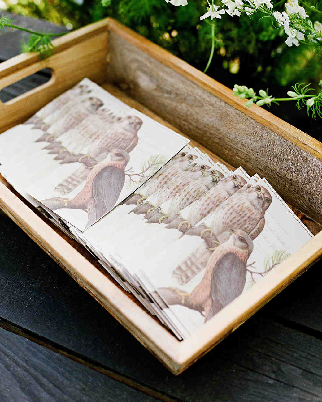 whitney zach wedding programs in wooden box