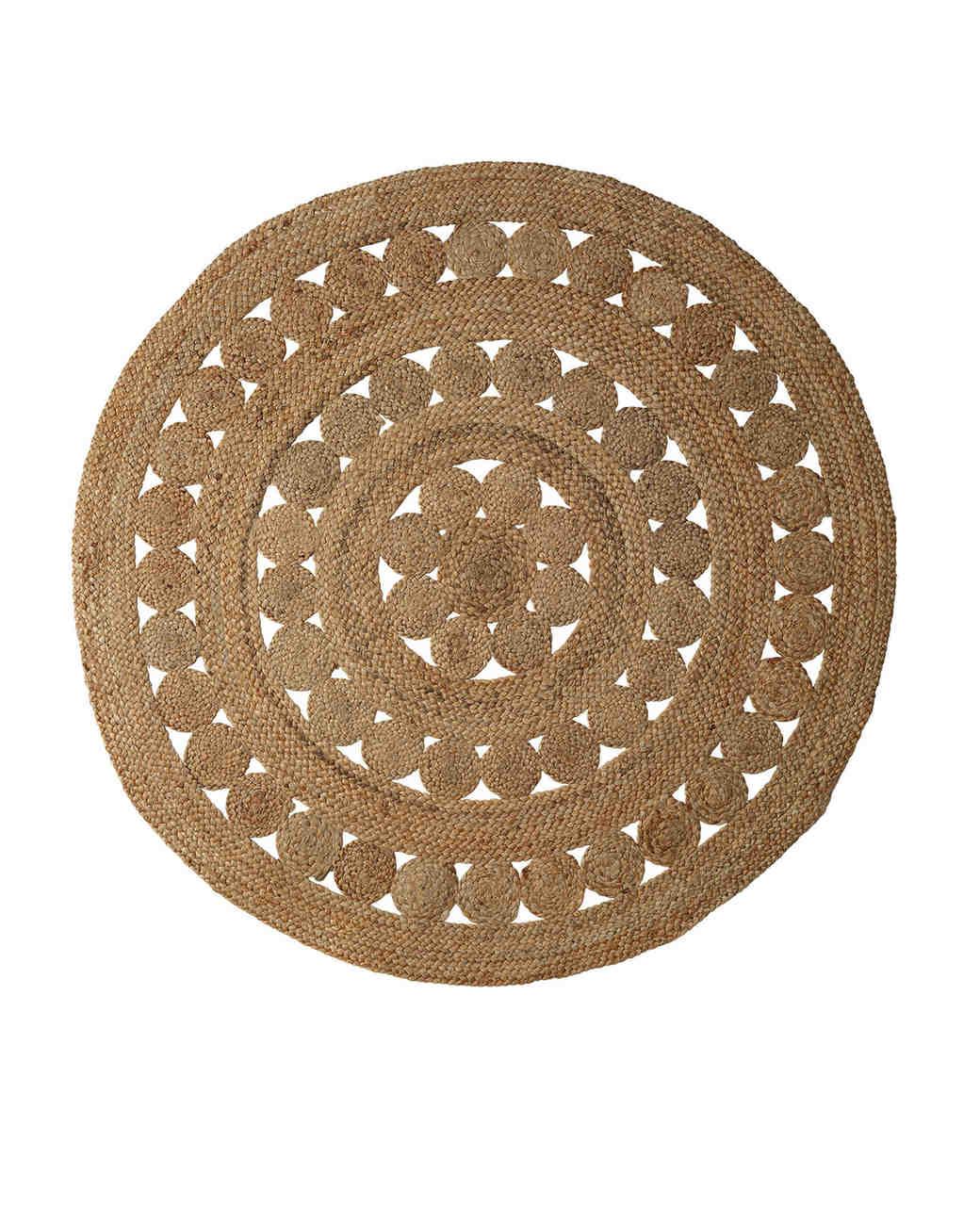 willow anniversary gift jute rug
