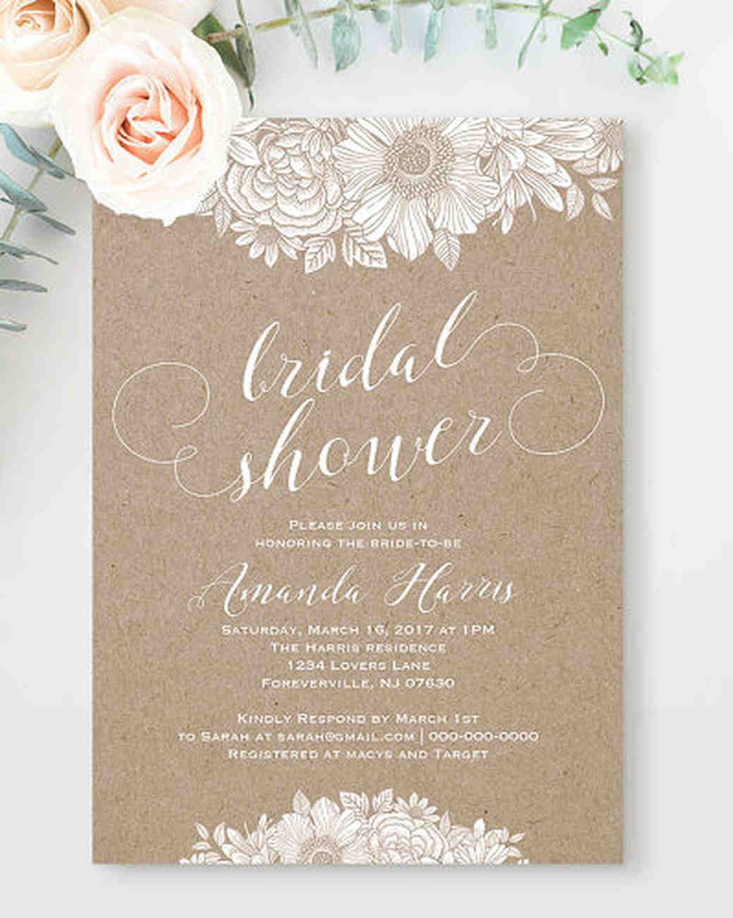 10 affordable bridal shower invitations you can print at home boho invitations filmwisefo