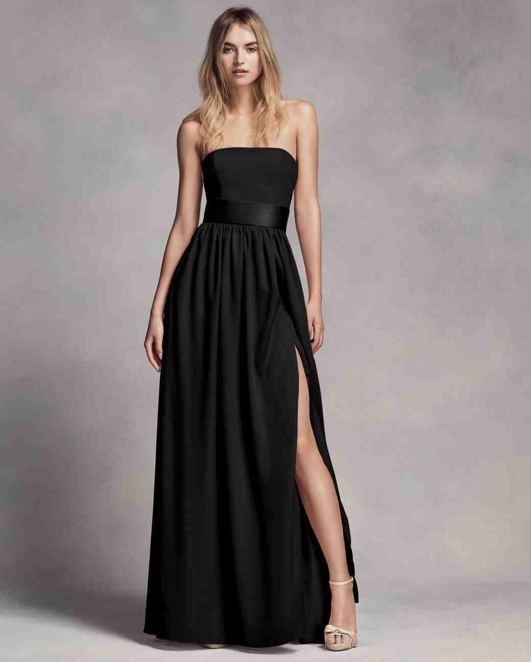 Chic Black Bridesmaid Dresses | Martha Stewart Weddings