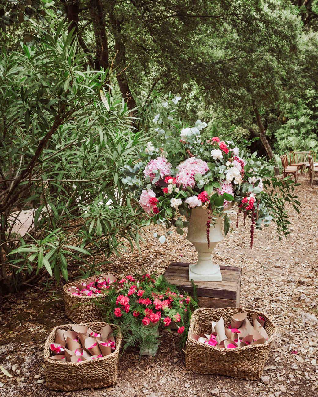 bougainvillea floral toss baskets