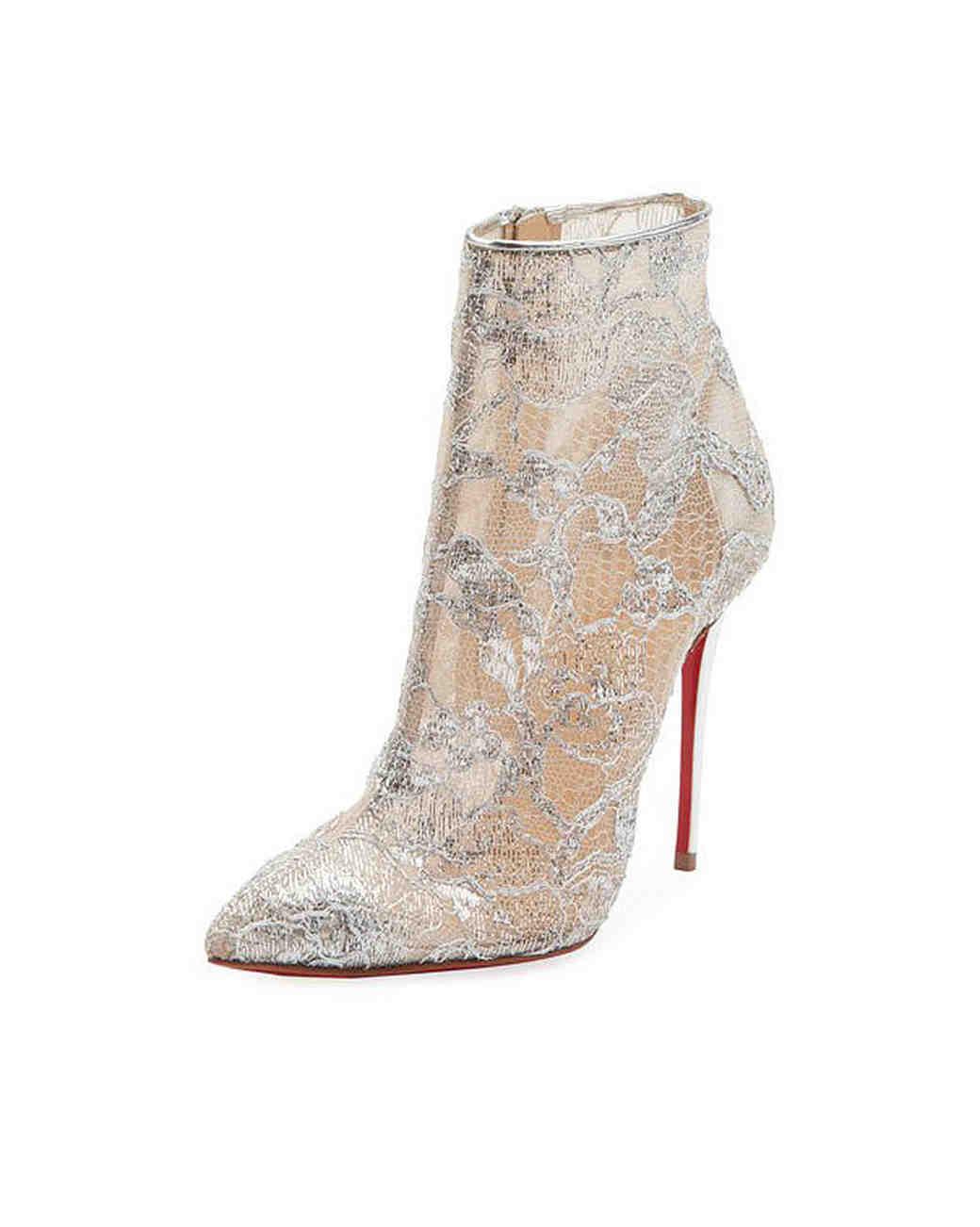 lace mesh bridal booties christian louboutin gipsybootie heel