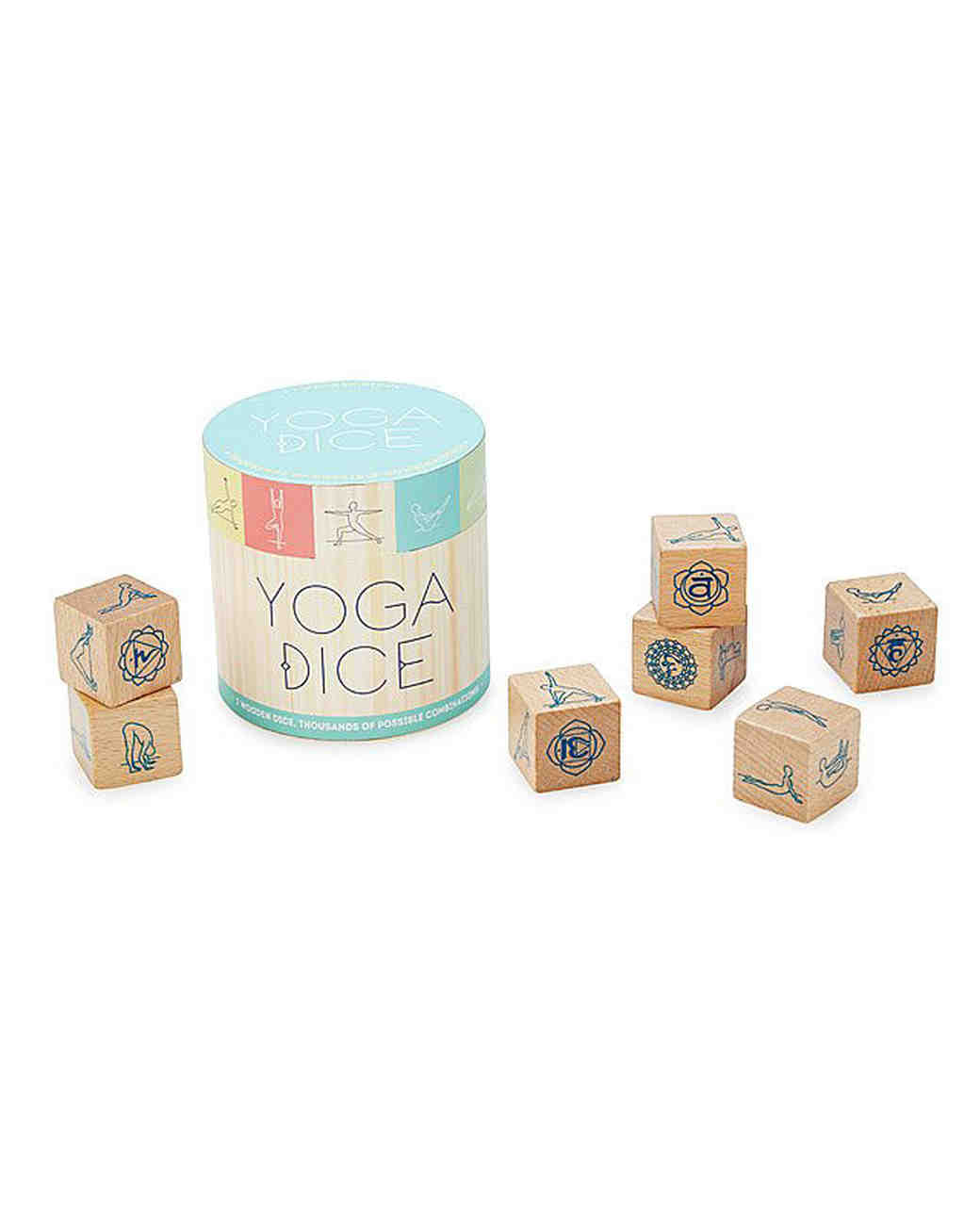 bridesmaid gift yoga wooden dice blocks