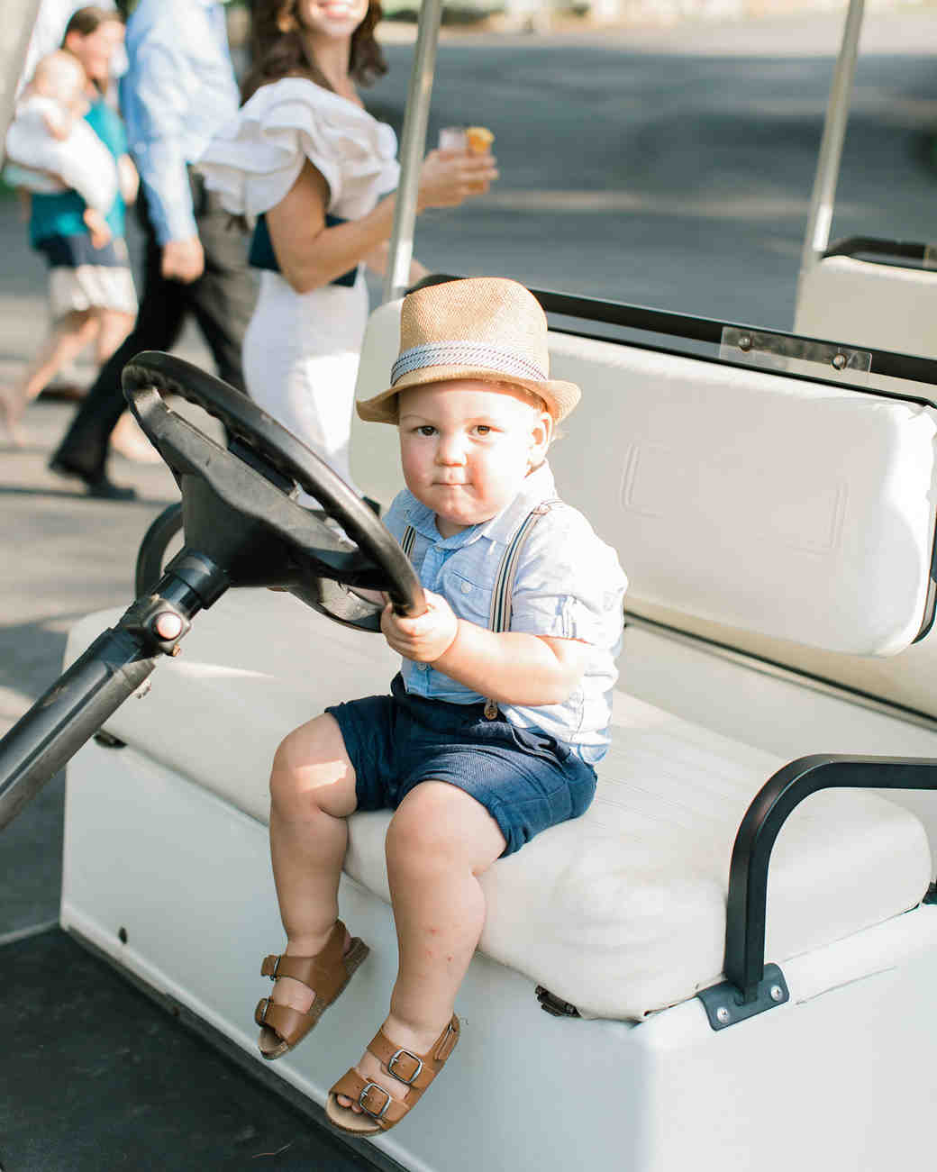 camryn eugene boy in golf cart