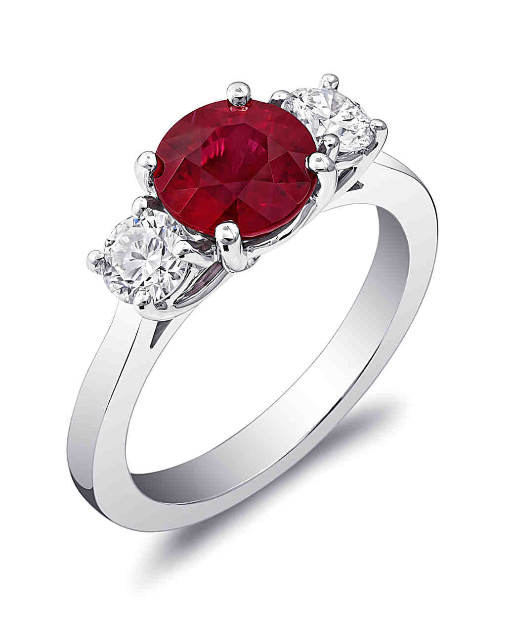 Coast Diamond Ruby and Diamond Engagement Ring