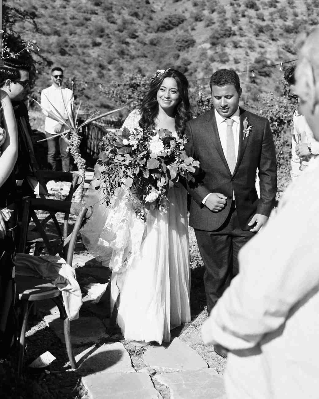 daphne jack wedding spain processional