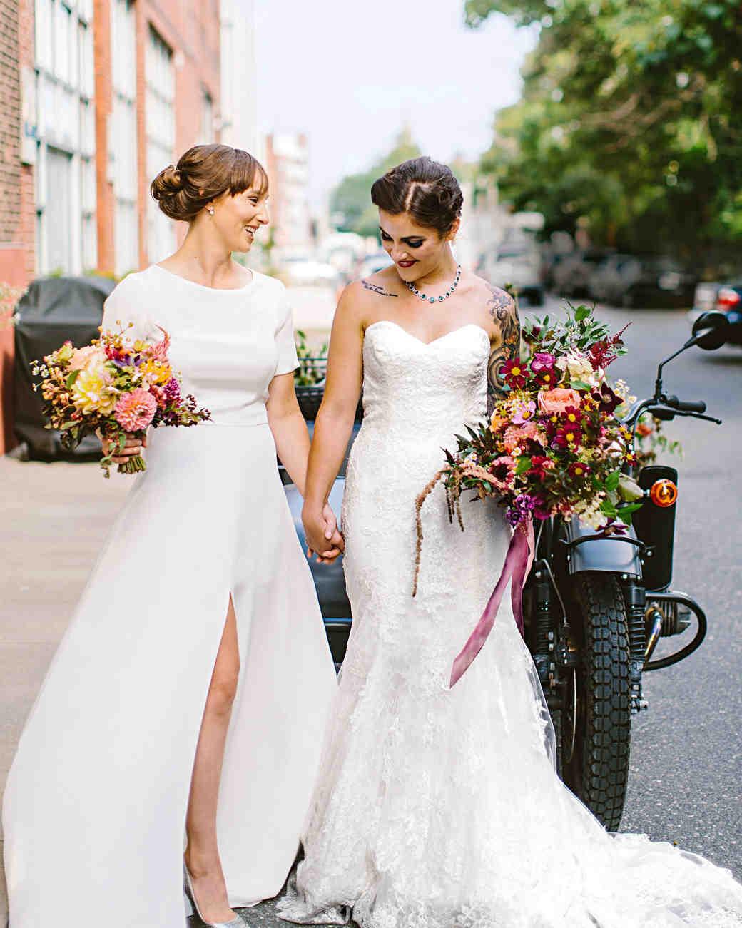 Whimsical weddings martha stewart weddings deborah meryl wedding couple junglespirit Image collections