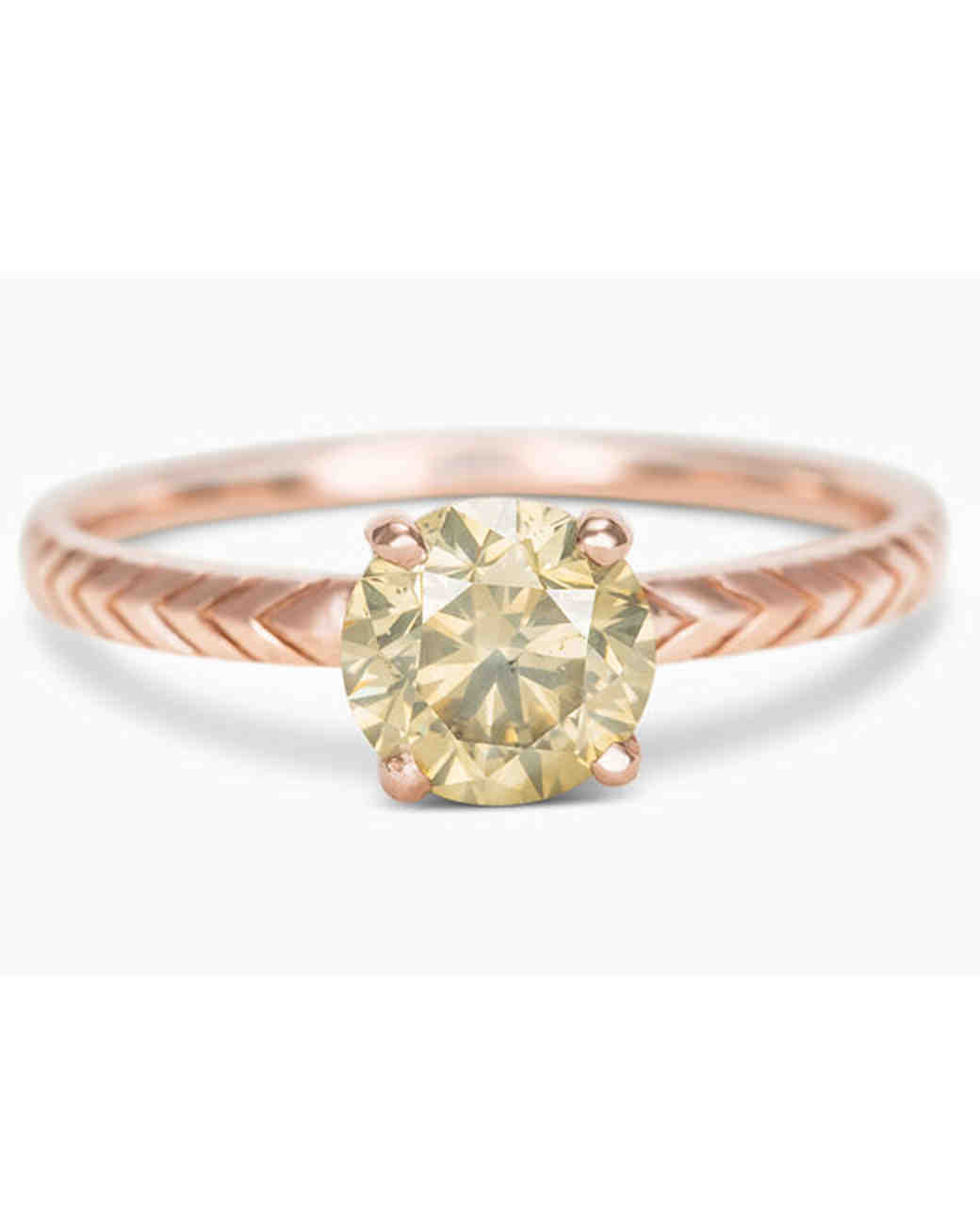 Digby & Iona One of a Kind Solitaire engagement ring in rose gold