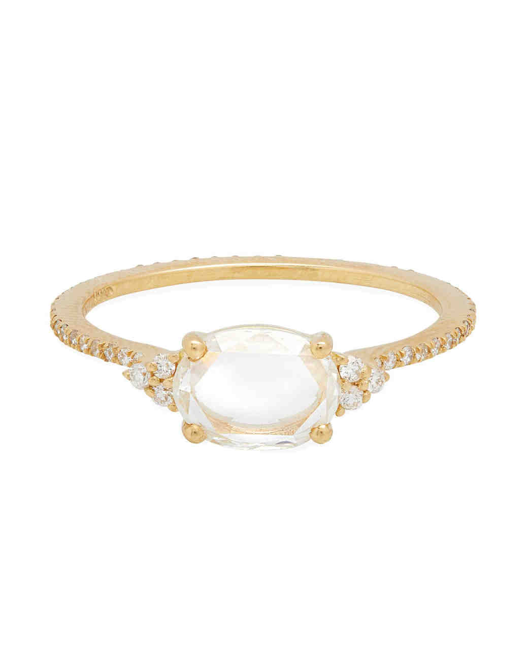 east west engagement rings solitaire ring