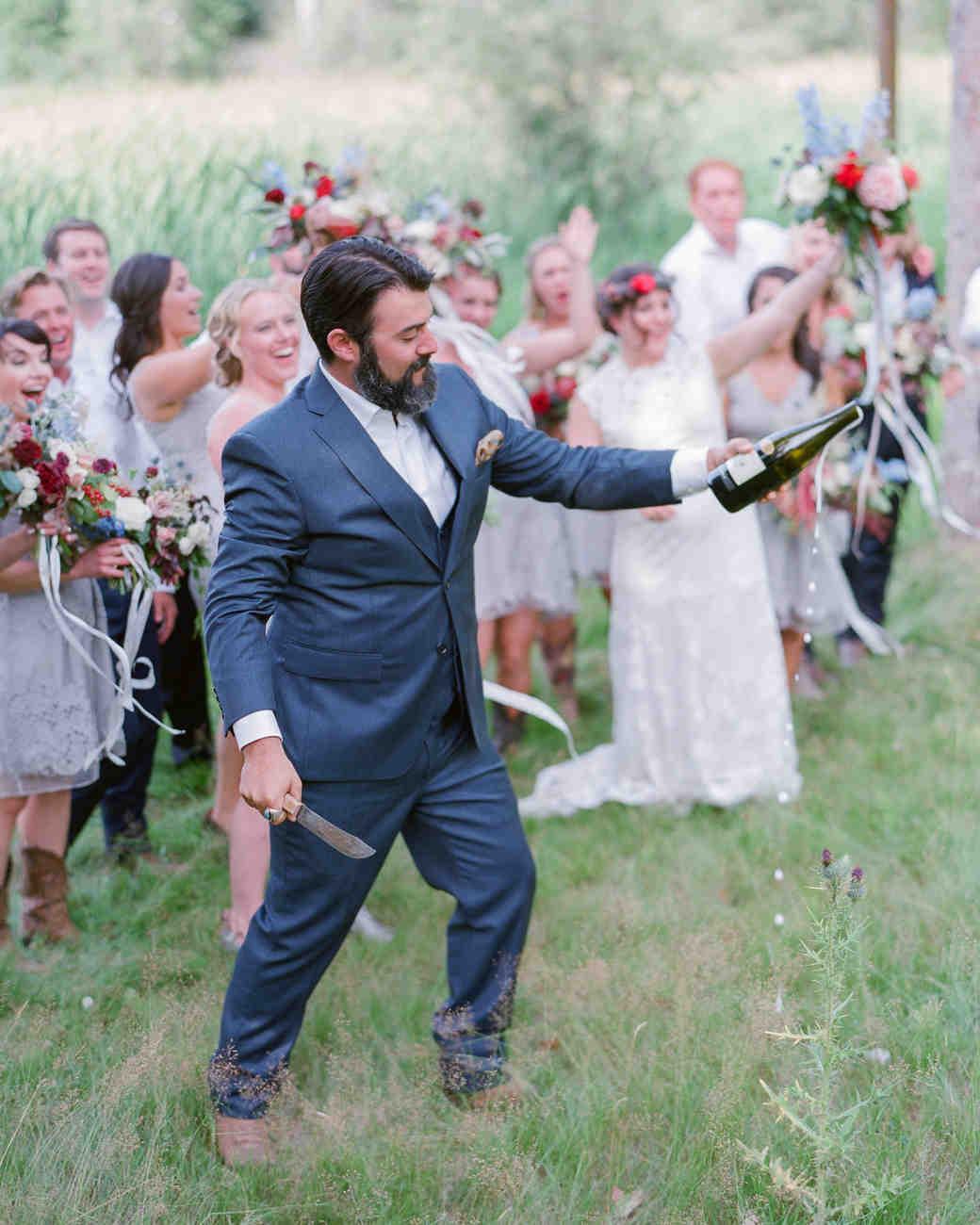 champagne wedding saber