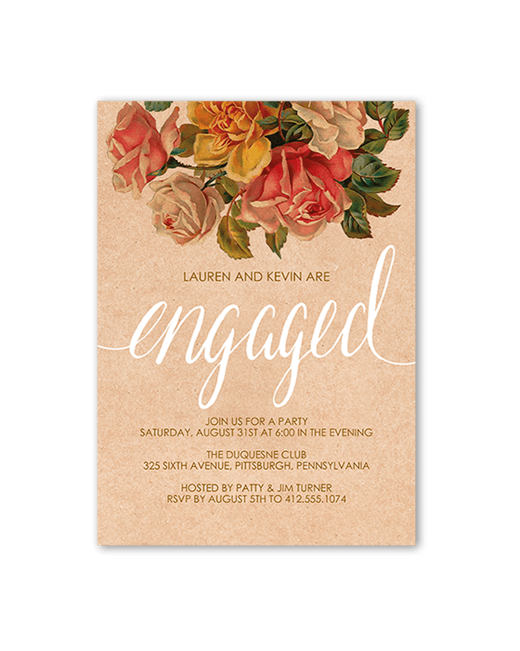 "Shutterfly ""Darling Bouquet"" engagement party Invitation"