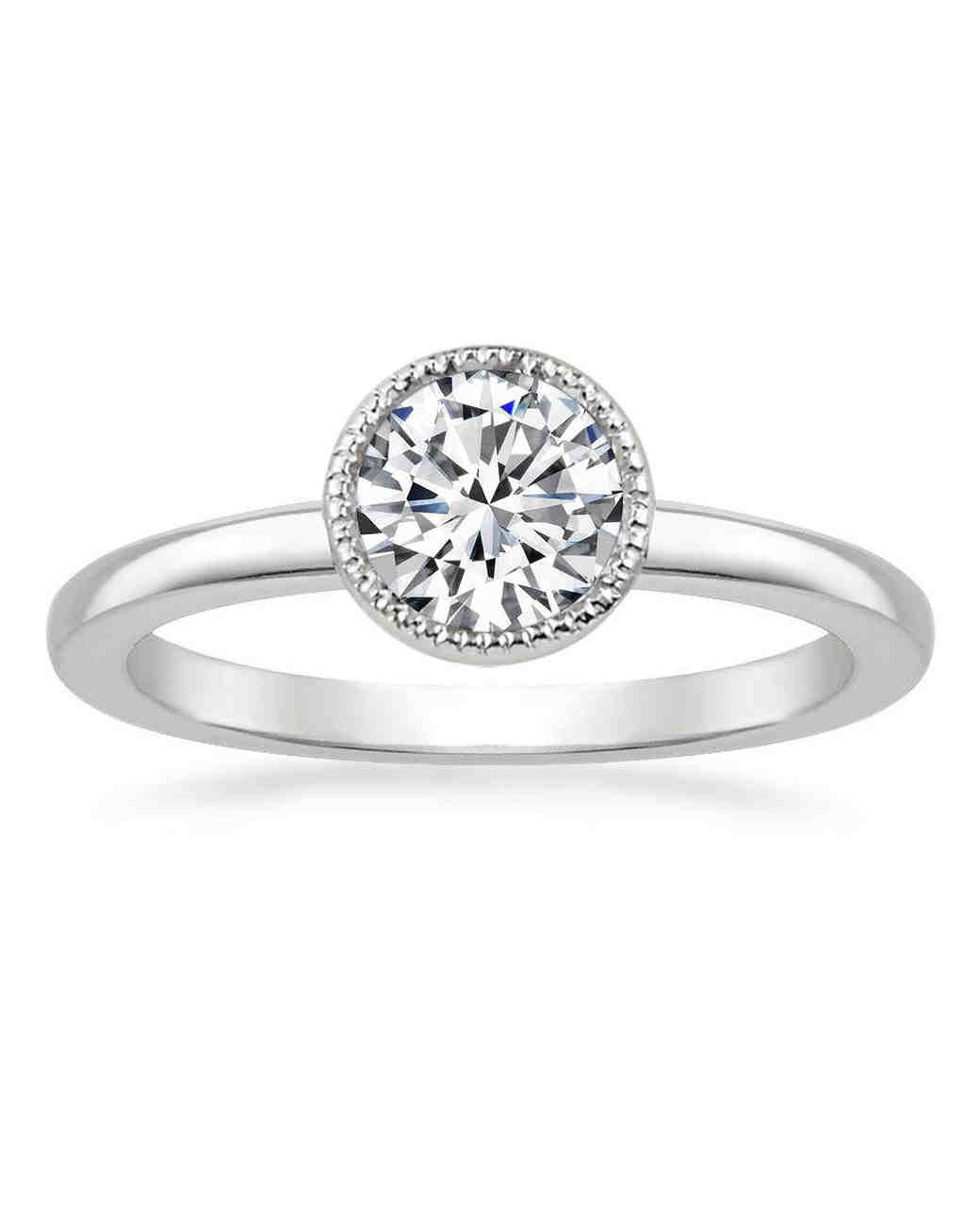engagement ring settings bezel diamonds jewelry