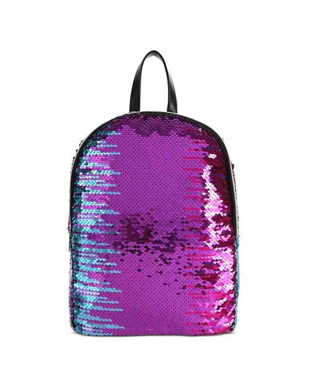 flower girl gift guide capelli mini purple sequin backpack