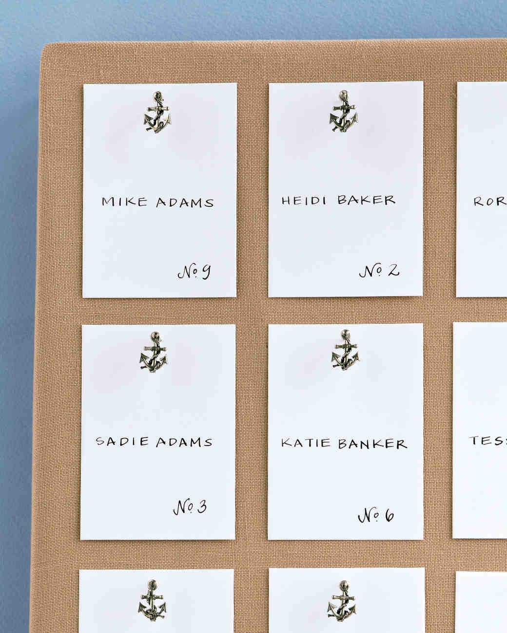 Anchor Escort Cards