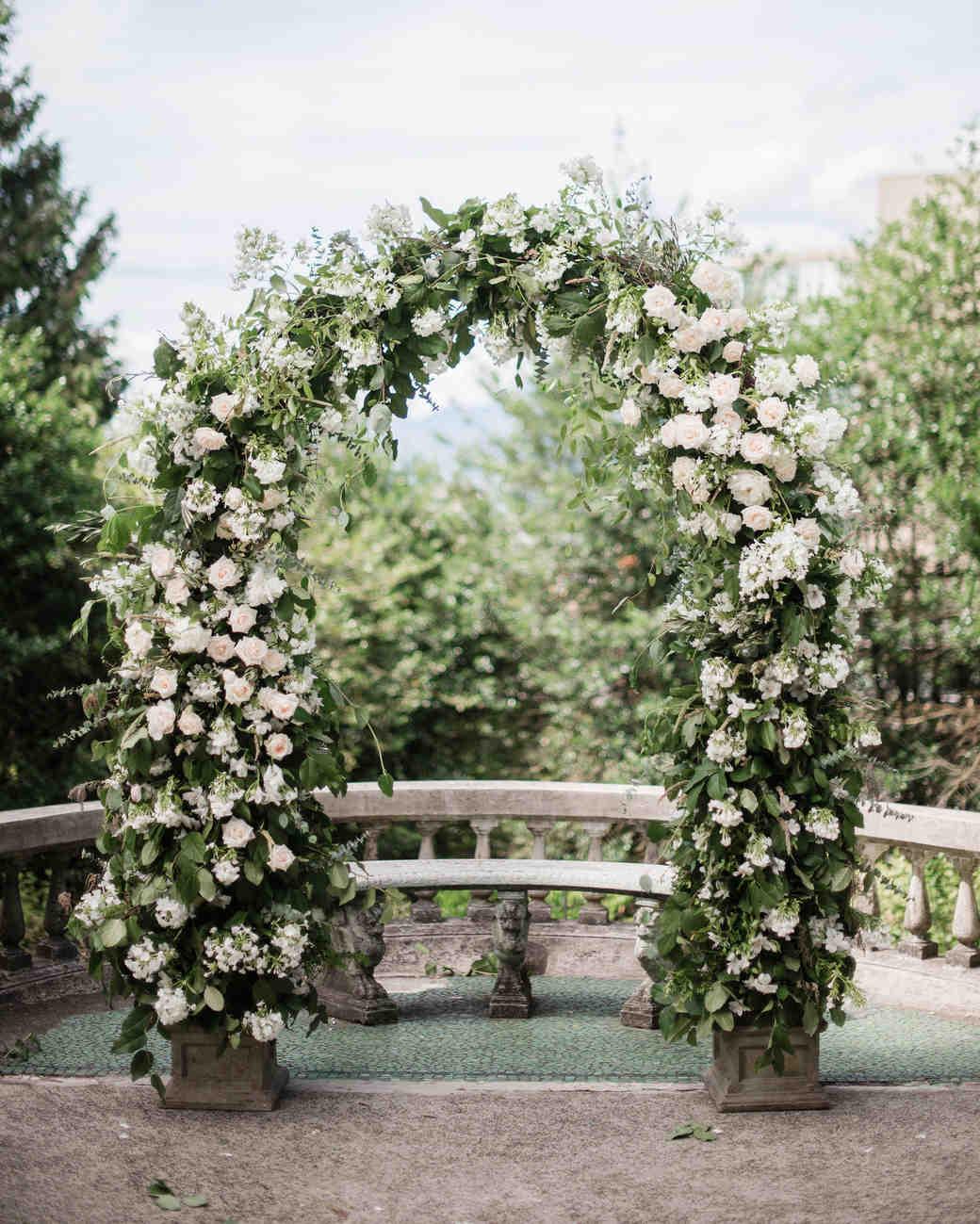 gloria zee wedding ceremony arch