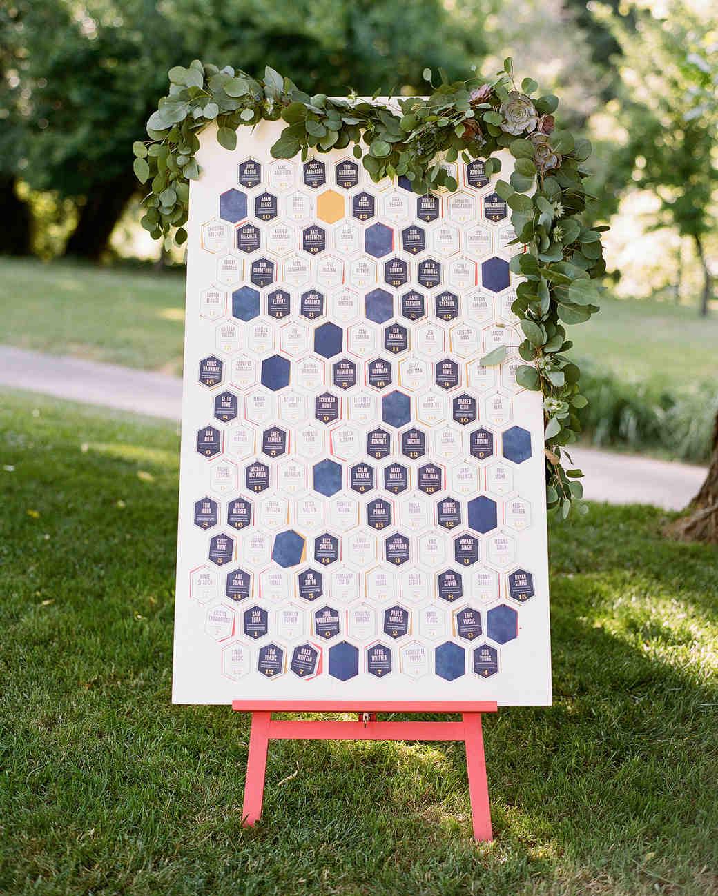 Honeycomb Wedding Inspiration, Honeycomb Seating Chart