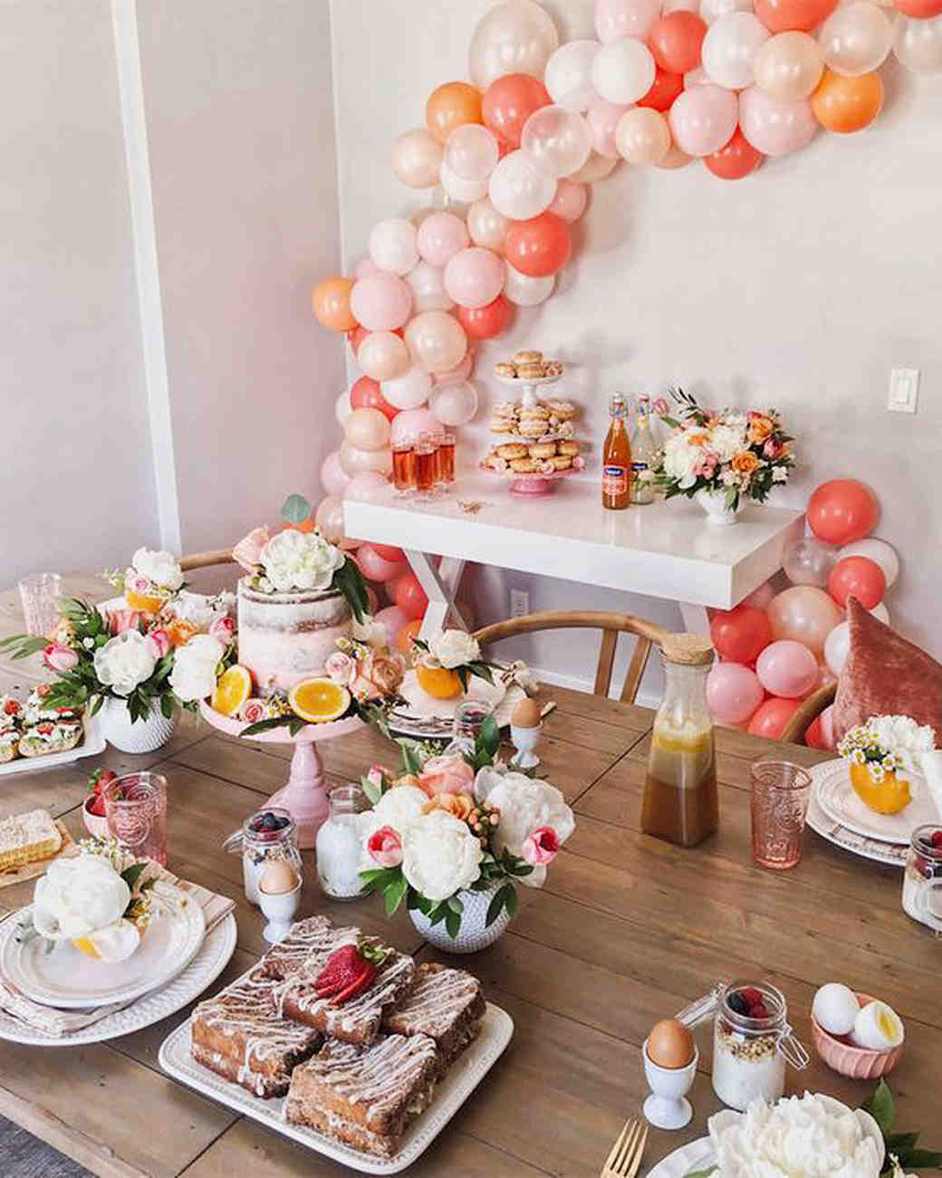 d3ce37fe2da7 bridal shower ideas citrust inspired place settings peach white decor