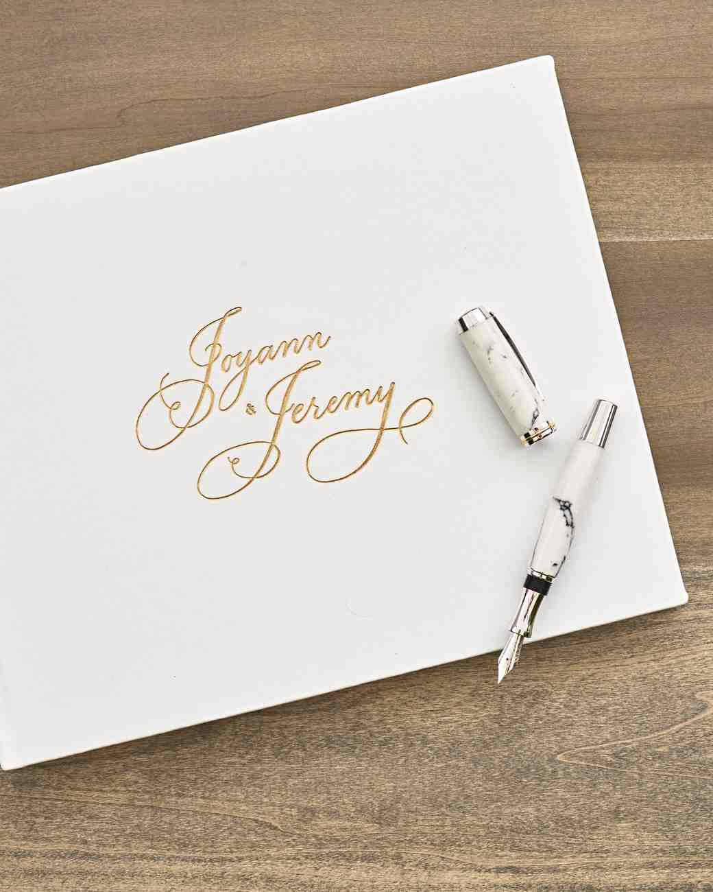 joyann jeremy wedding guest book