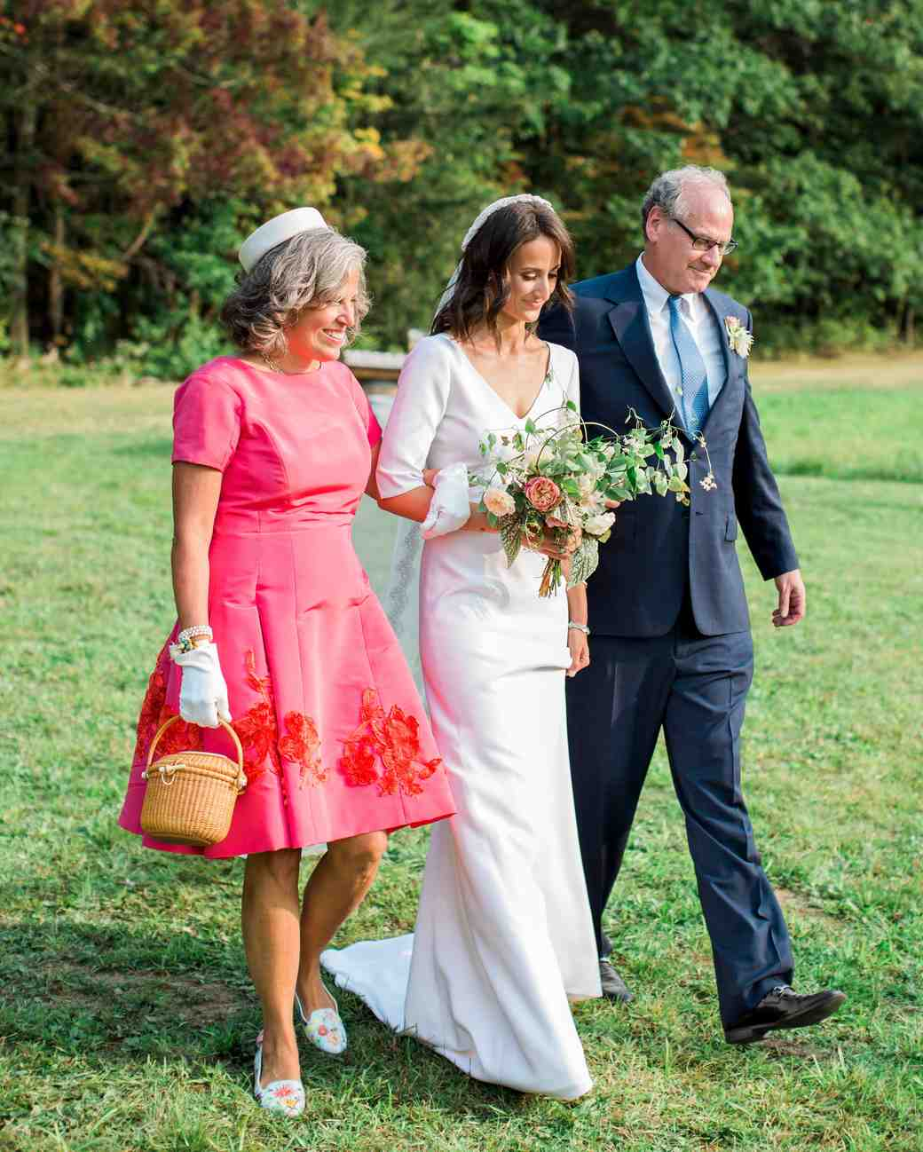 kayla michael wedding processional bride