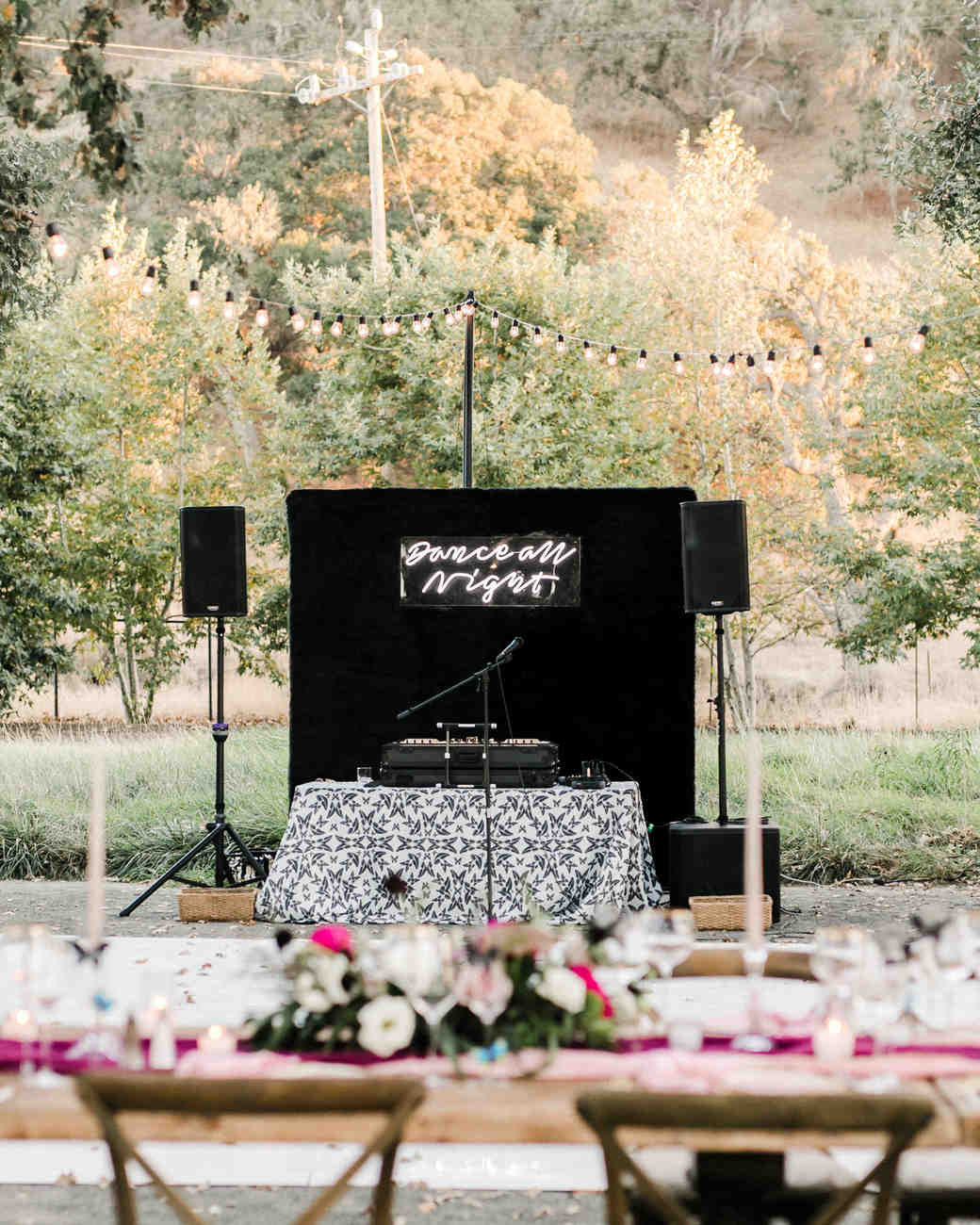 kiersten ruairi wedding dj booth