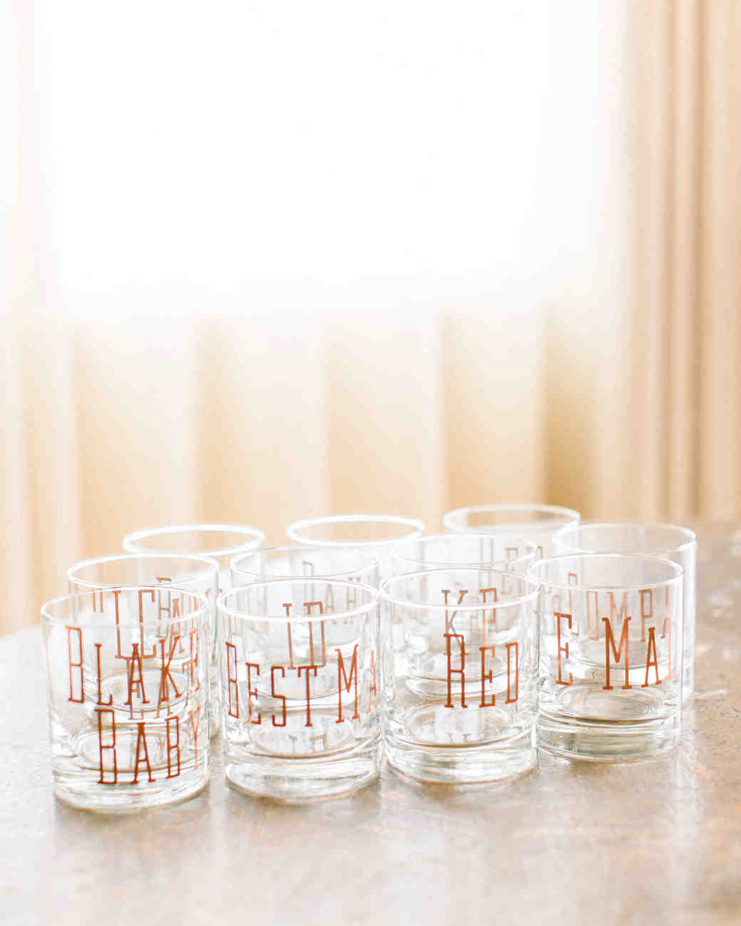 kourtney justin wedding mexico glasses tumblers