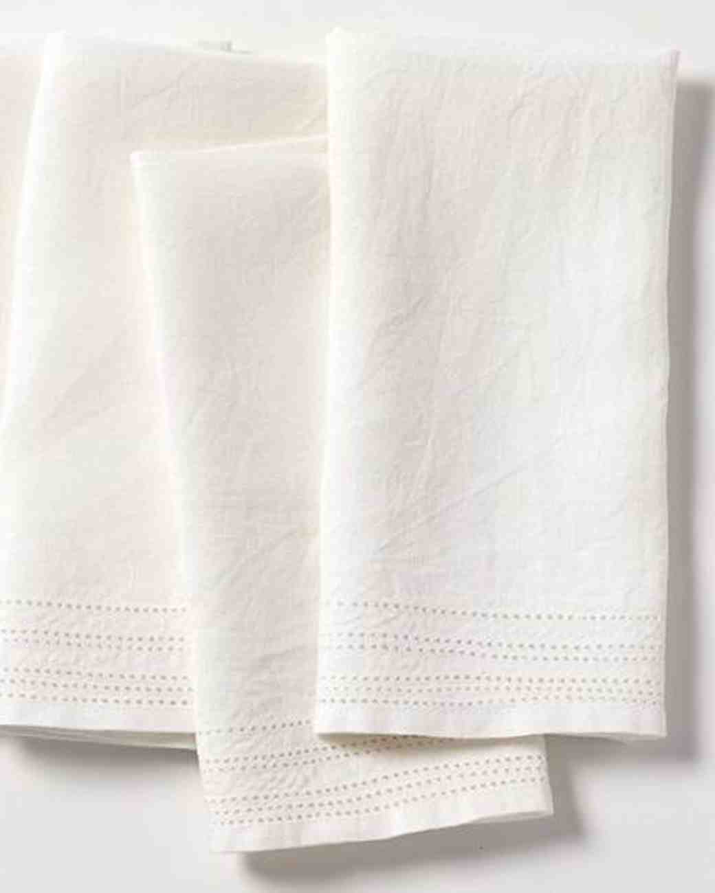 Linen Wedding Anniversary Gifts, Eyelet Linen Napkins