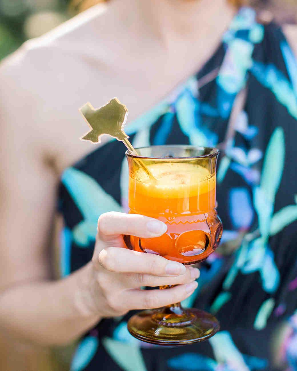megan scott wedding texas cocktails