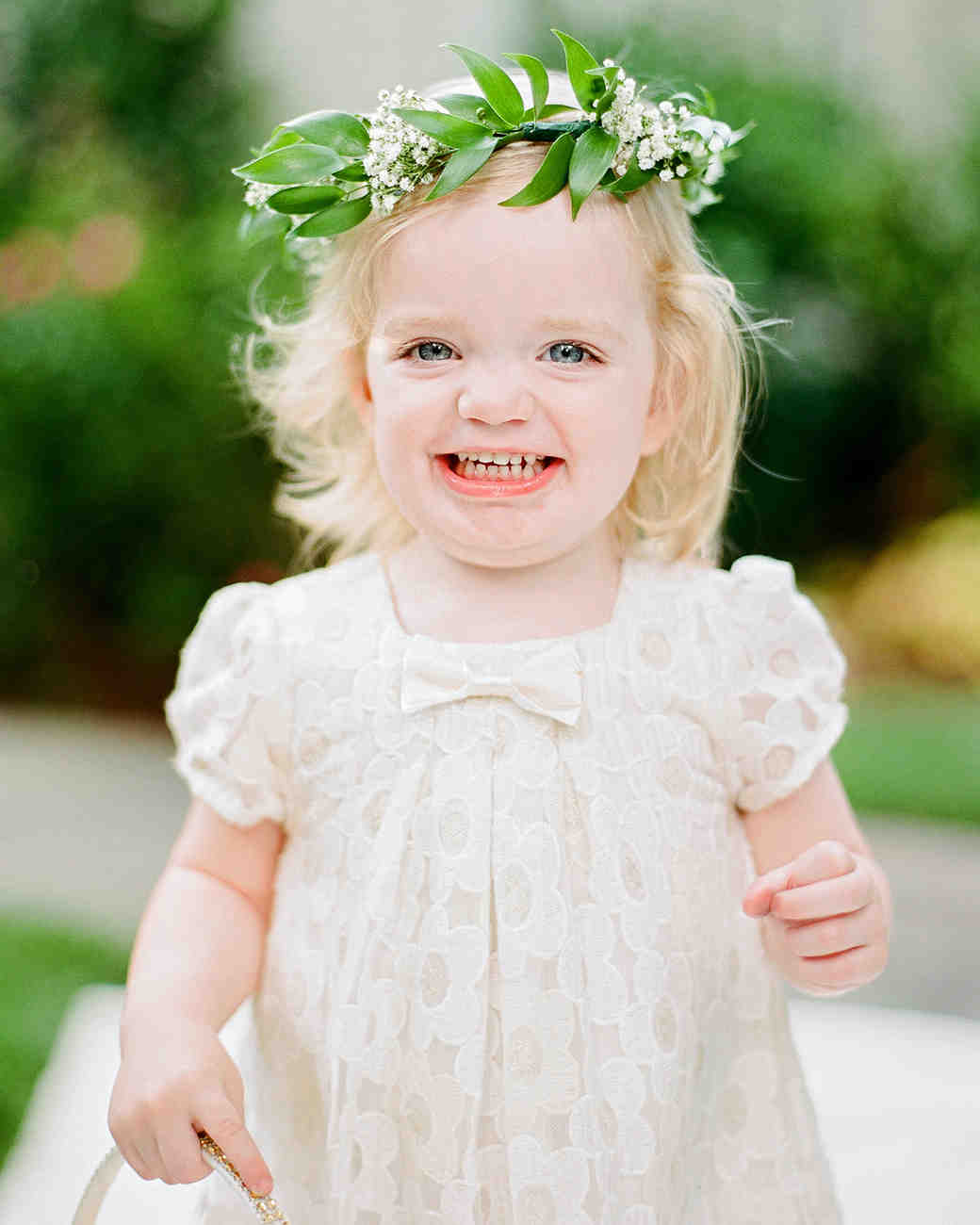 melissa michael flower girl with floral crown