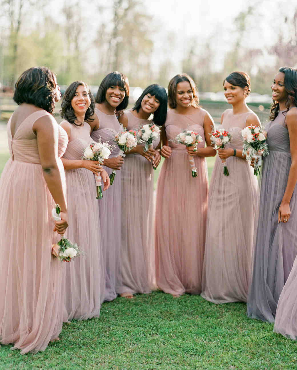 2bb8f344c0d0 28 Mismatched Bridesmaids Dresses from Real Weddings - Best Mix and Match Bridesmaids  Dresses