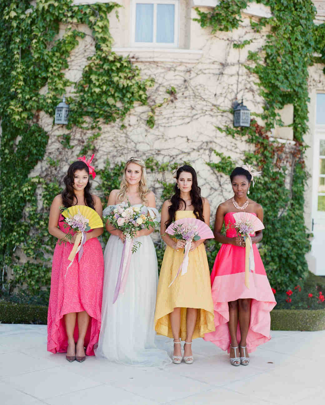 2489245a636eb 28 Mismatched Bridesmaids Dresses from Real Weddings - Best Mix and Match Bridesmaids  Dresses