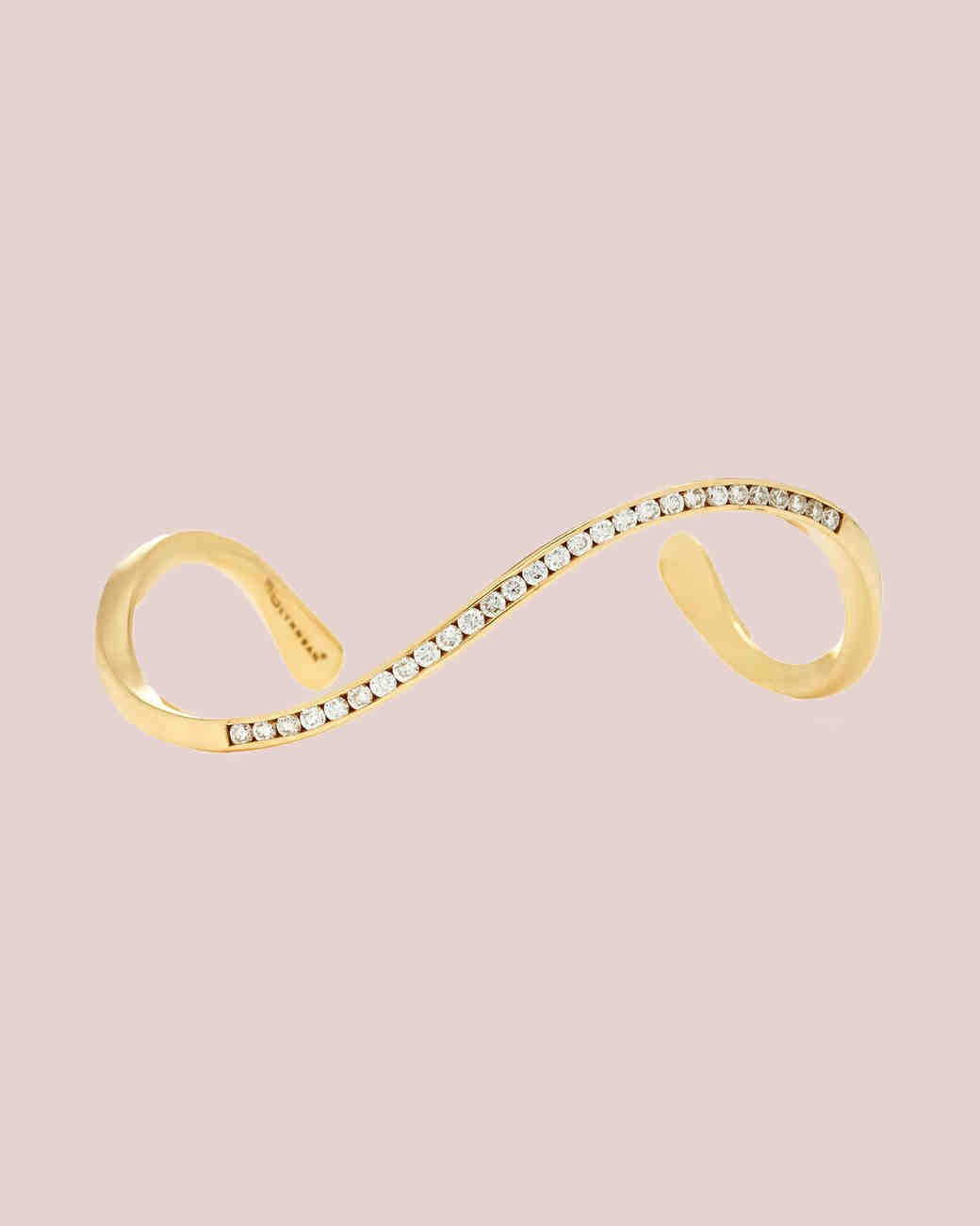 Lynn Ban Jewelry 14-karat Gold Diamond Bangle