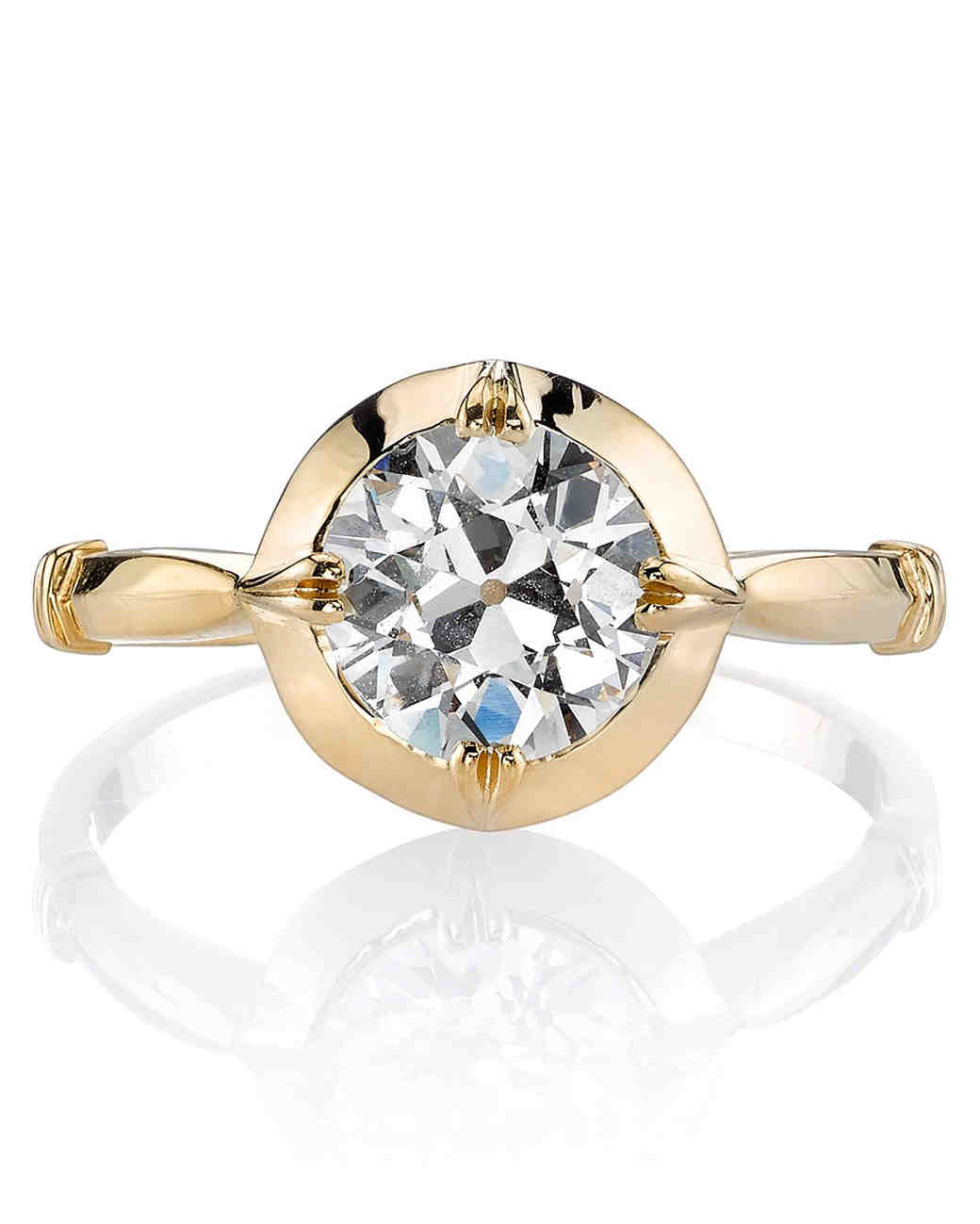 Yellow Gold Engagement Rings | Martha Stewart Weddings