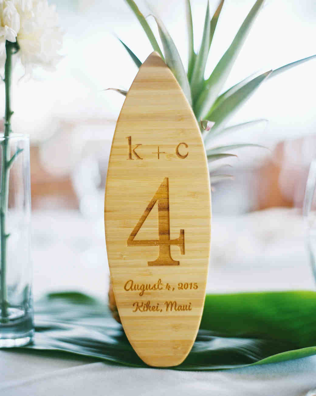 mini surfboard table numbers