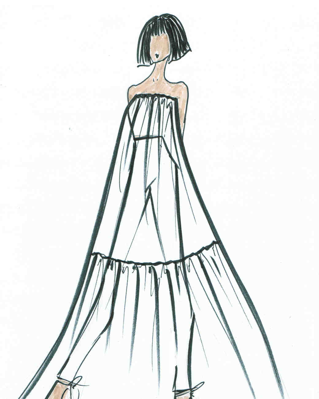 Spring 2019 Bridal Fashion Week Preview Sketch, Lakum