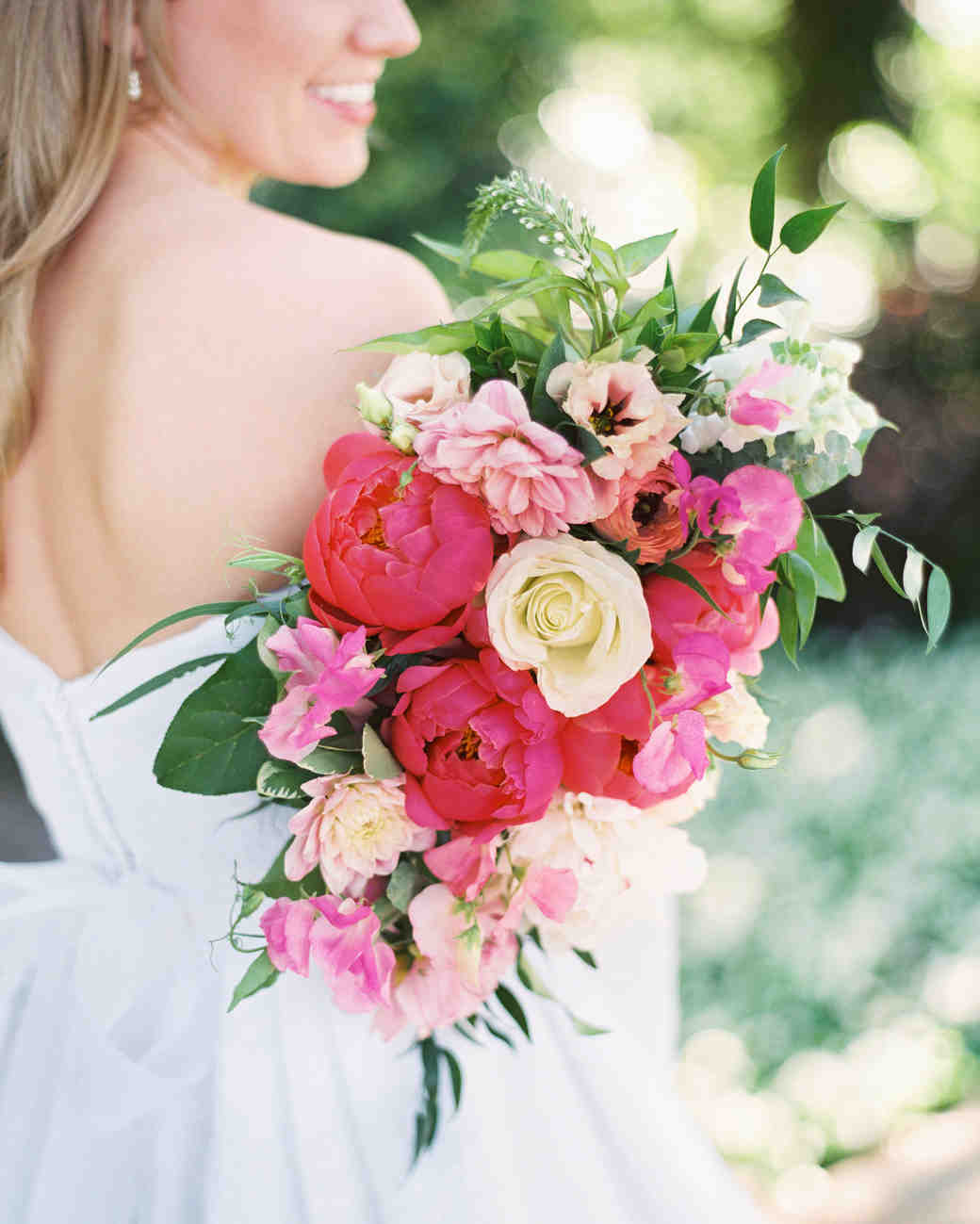 Wedding Bouquet in Shades of Pink