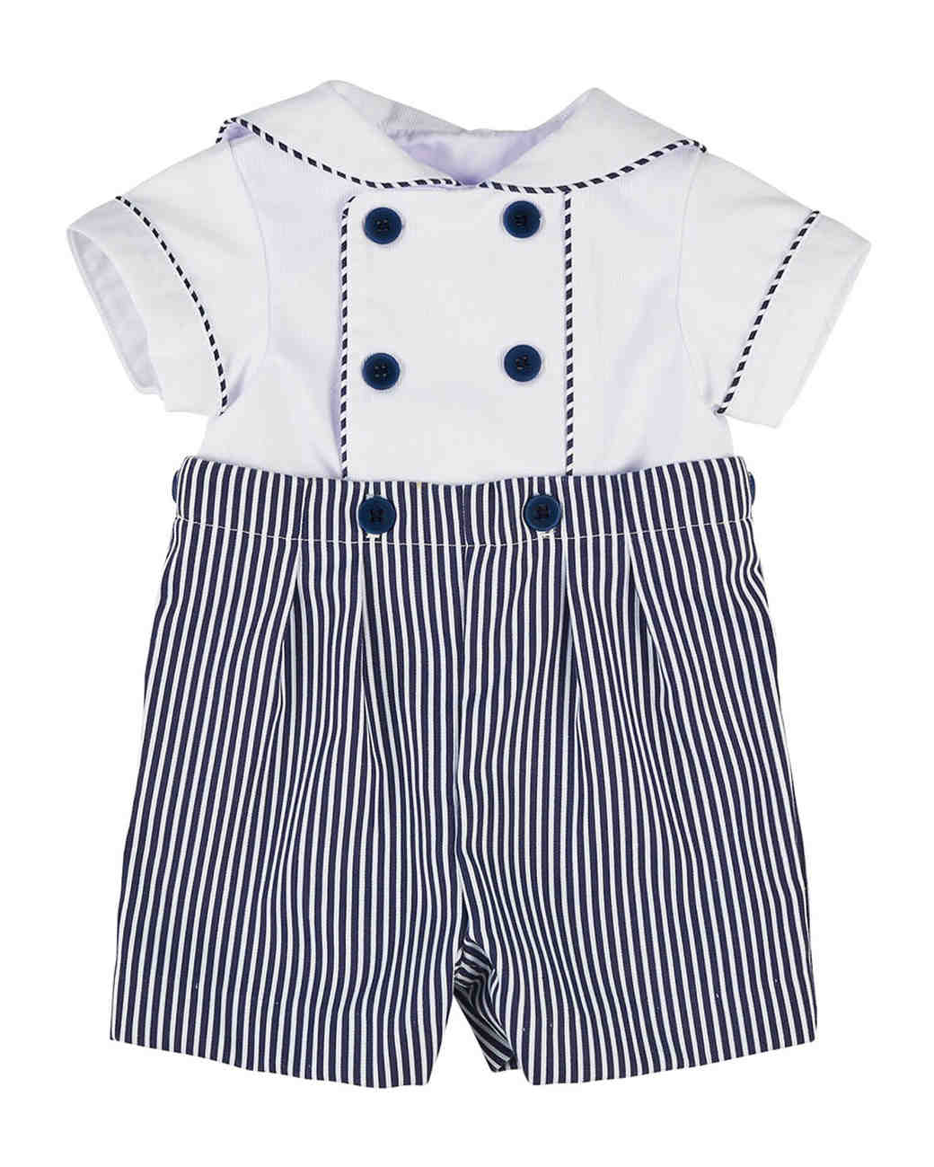 Florence Eiseman Stripe Button-On Shortall
