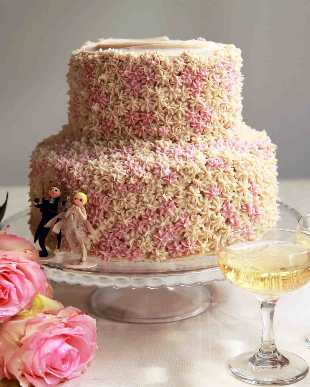 wedding cake with textured icing