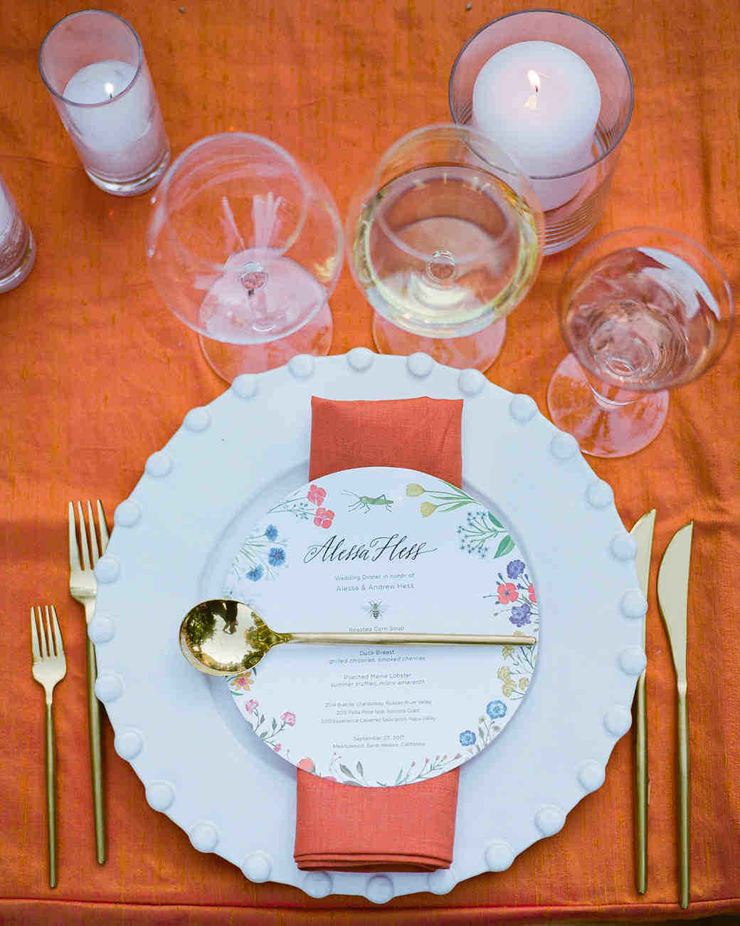 alessa andrew wedding placesetting