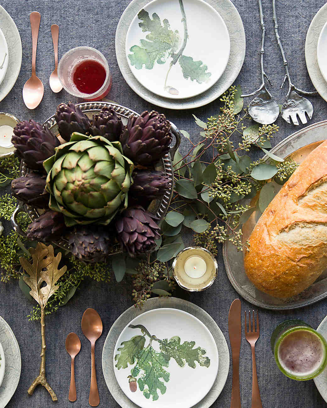 4 Ways to Set Your Thanksgiving Day Table So You Can Register in Style | Martha Stewart Weddings & 4 Ways to Set Your Thanksgiving Day Table So You Can Register in ...