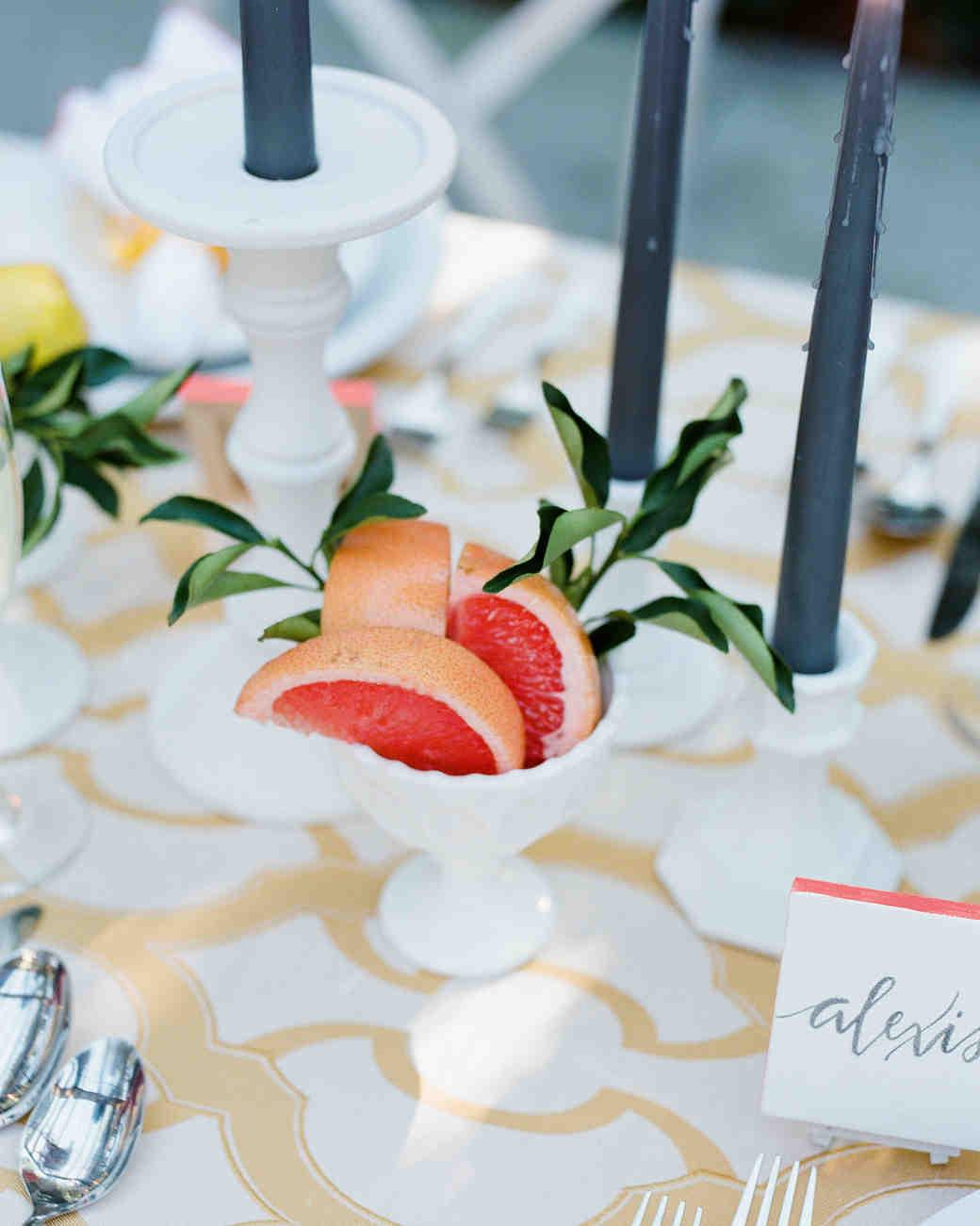citrus bridal shower centerpiece