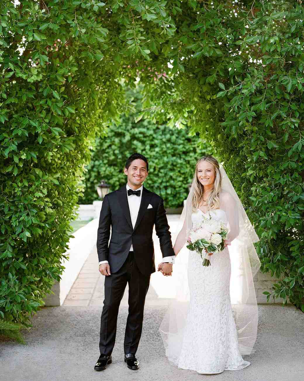 A Casual, Outdoor Wedding in Palm Springs with a Black-Tie Dress ...