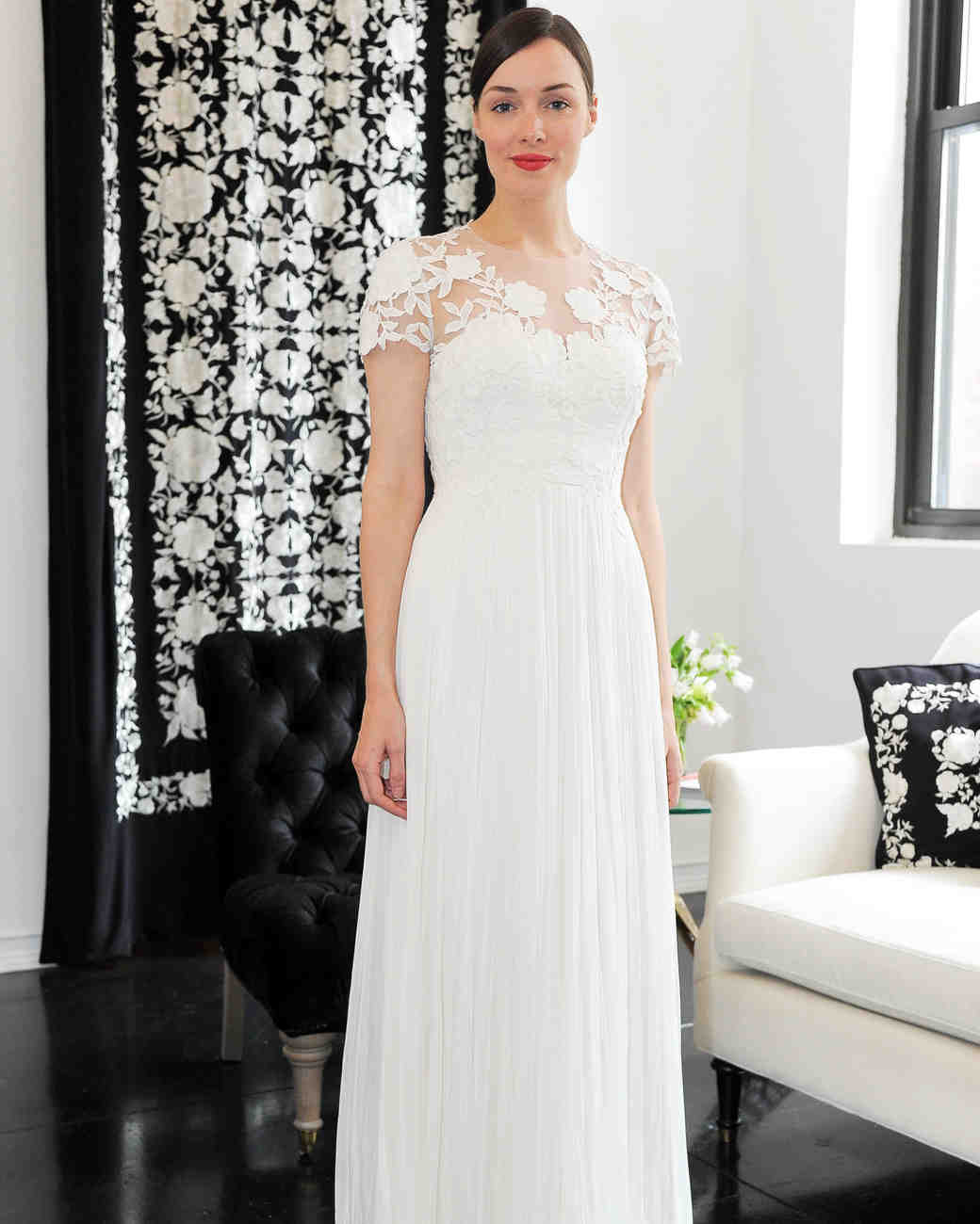 short sleeve lace catherine deane wedding dress spring 2018