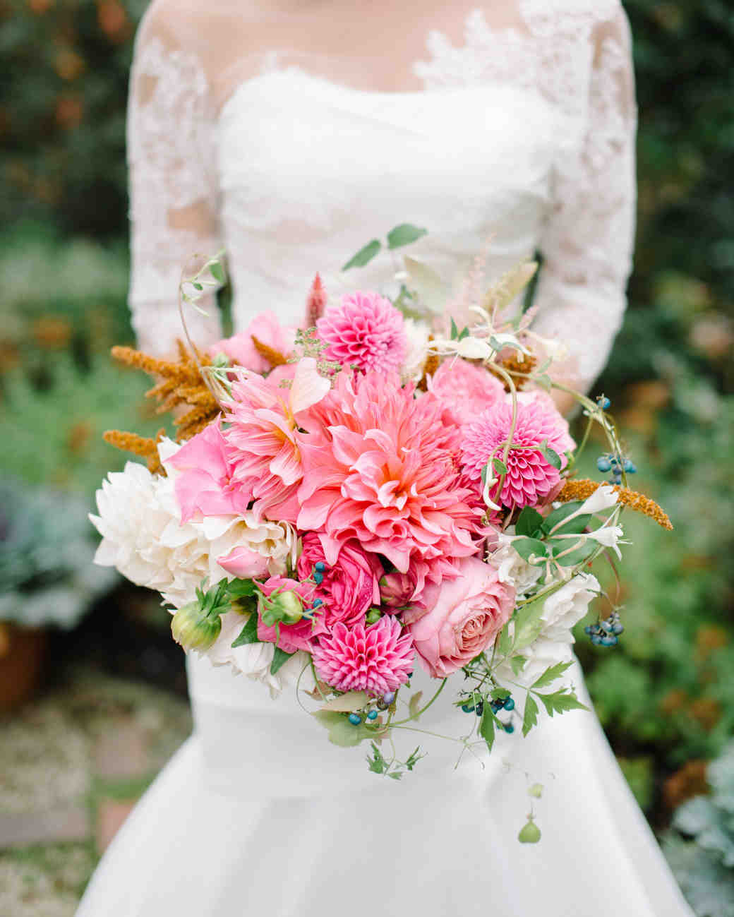 Dark Pink Wedding Flowers: 36 Dreamy Dahlia Wedding Bouquets