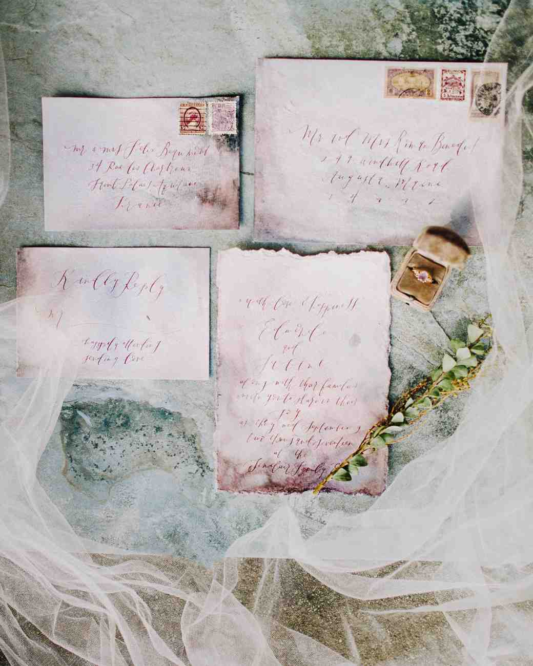 deckle edge invitations deidre lynn photography