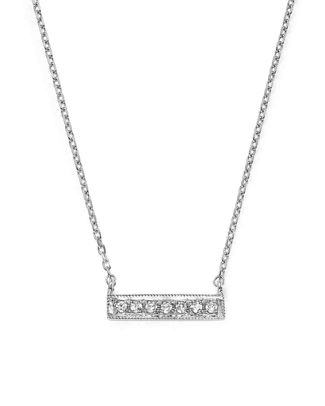 bar pendent necklace