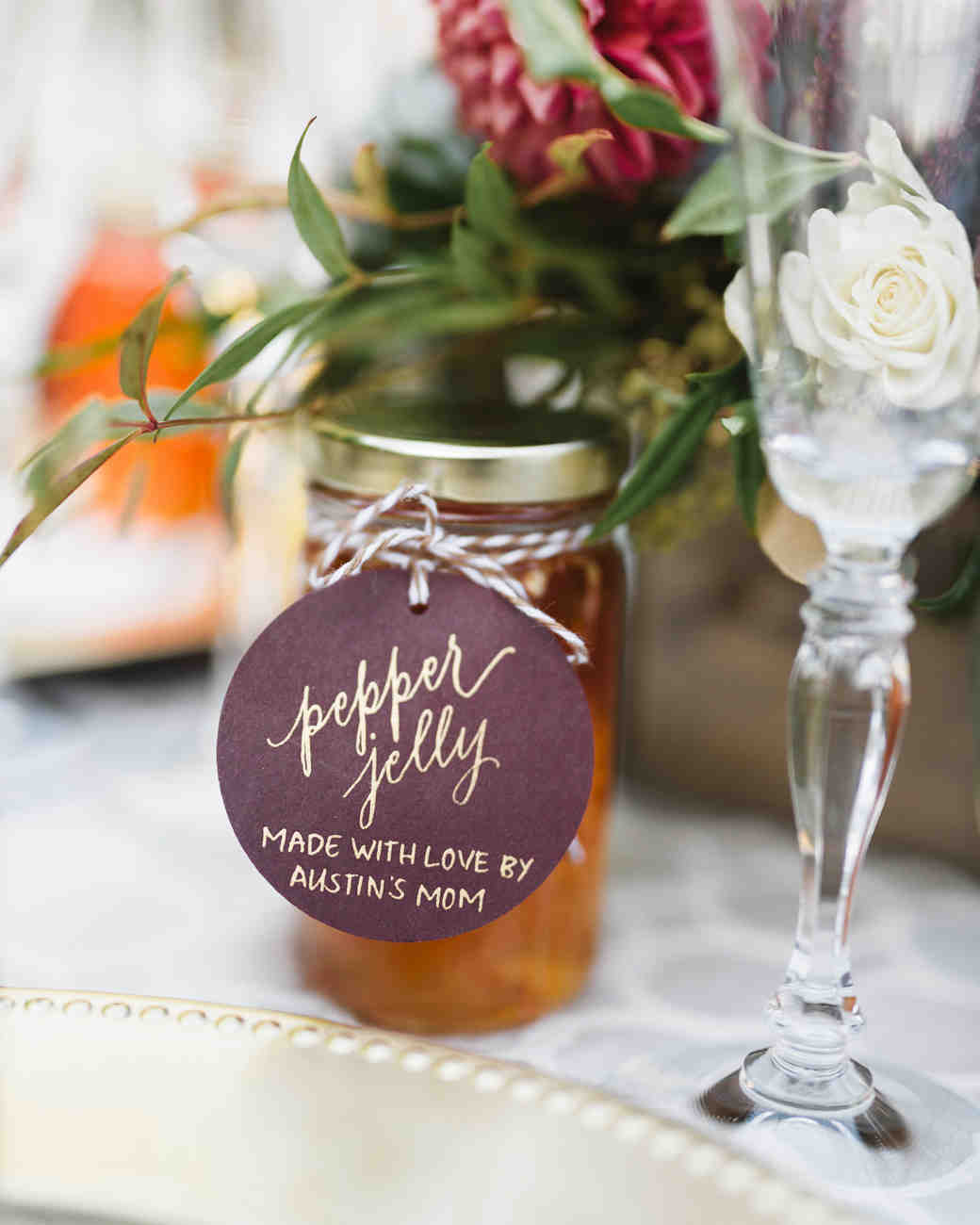 pepper jelly edible wedding favor