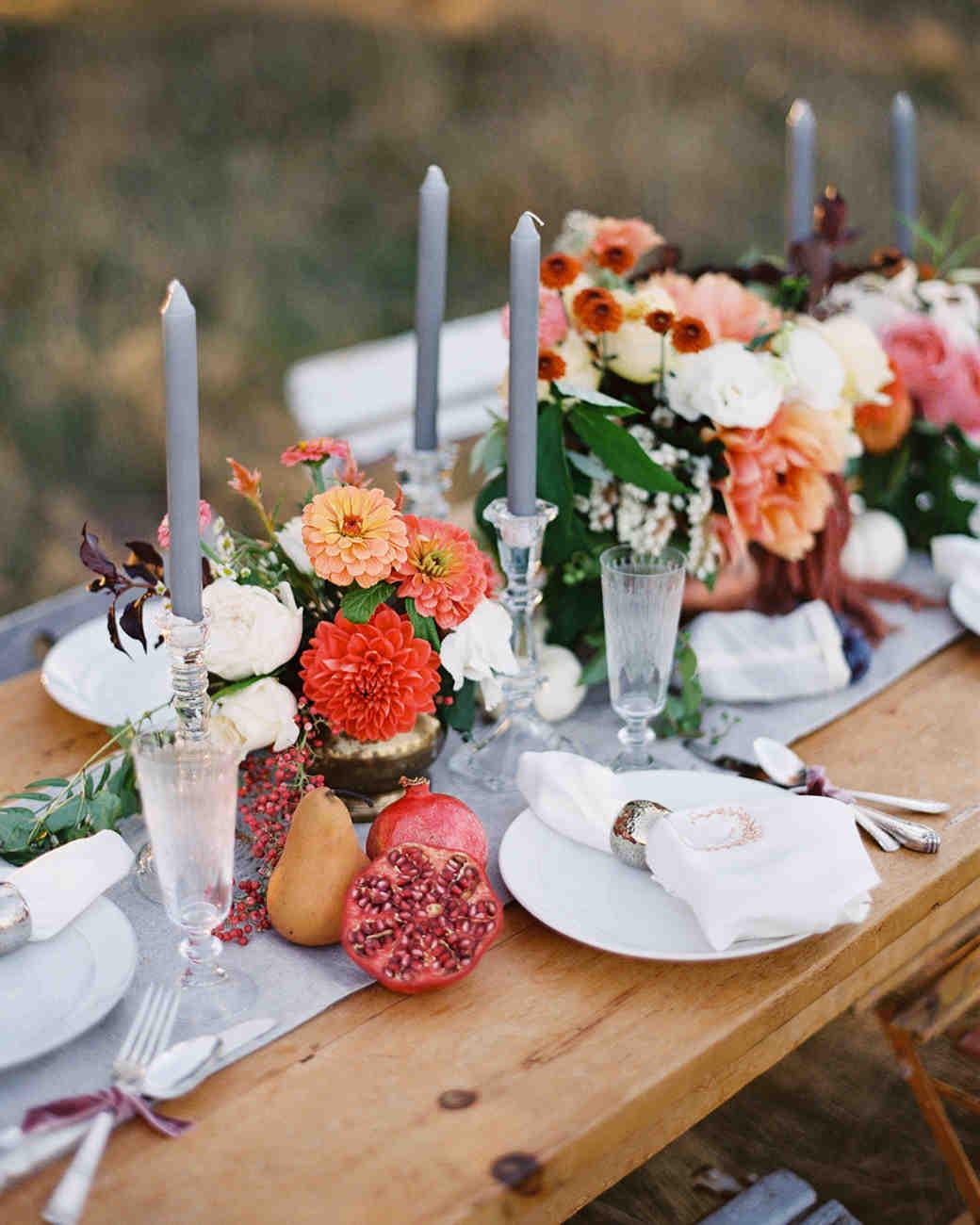 Autumn Wedding Table Centerpieces Loris Decoration